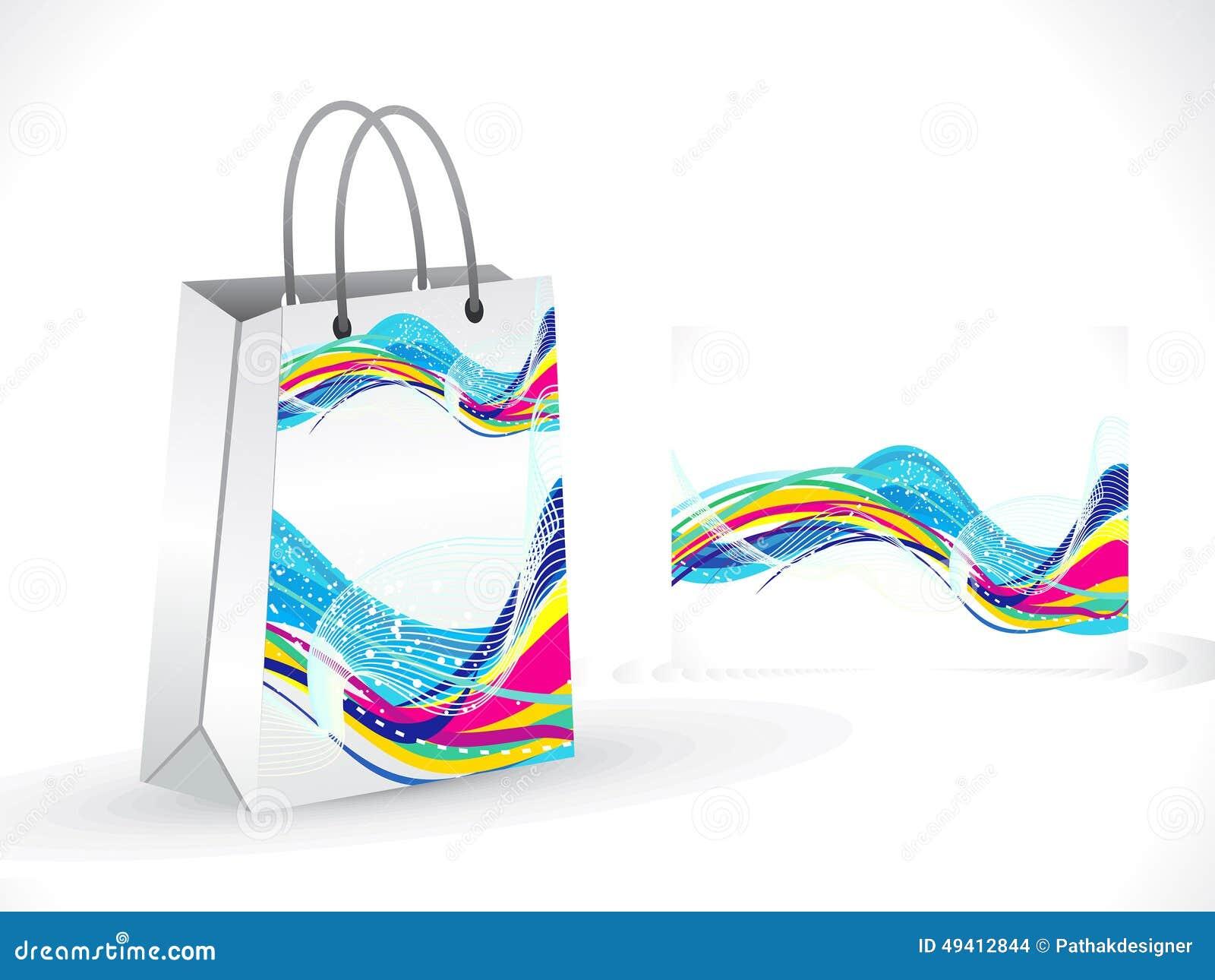 Download Abstrakte Künstlerische Bunte Einkaufstasche Vektor Abbildung - Illustration von fälschung, geburtstag: 49412844