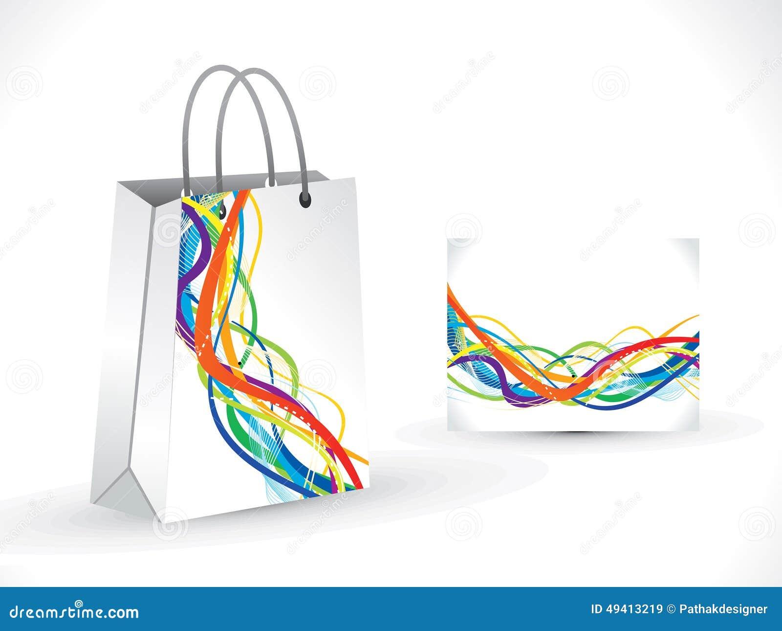 Download Abstrakte Künstlerische Einkaufstasche Vektor Abbildung - Illustration von einkaufen, wegwerfbar: 49413219