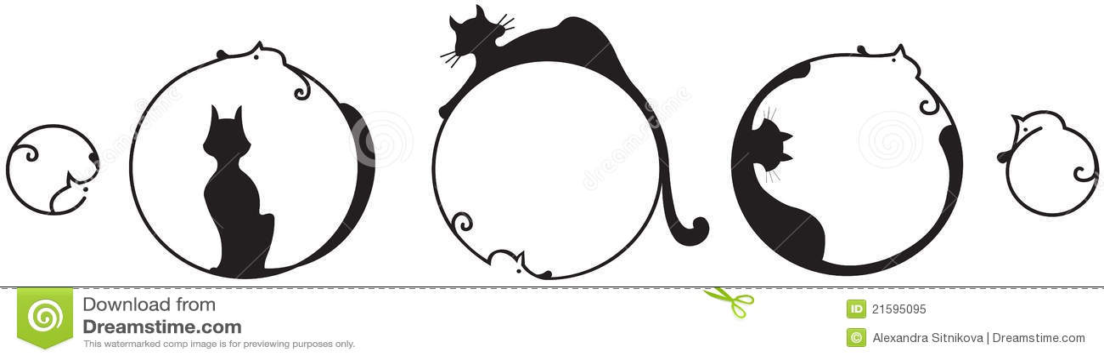 abstrakte katze und maus vektor abbildung illustration