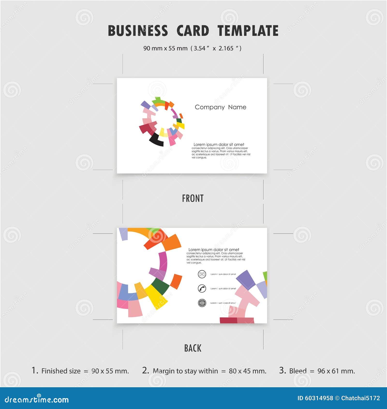 Abstrakte Kreative Visitenkarte-Design-Schablone, Größe 90mmx55mm ...