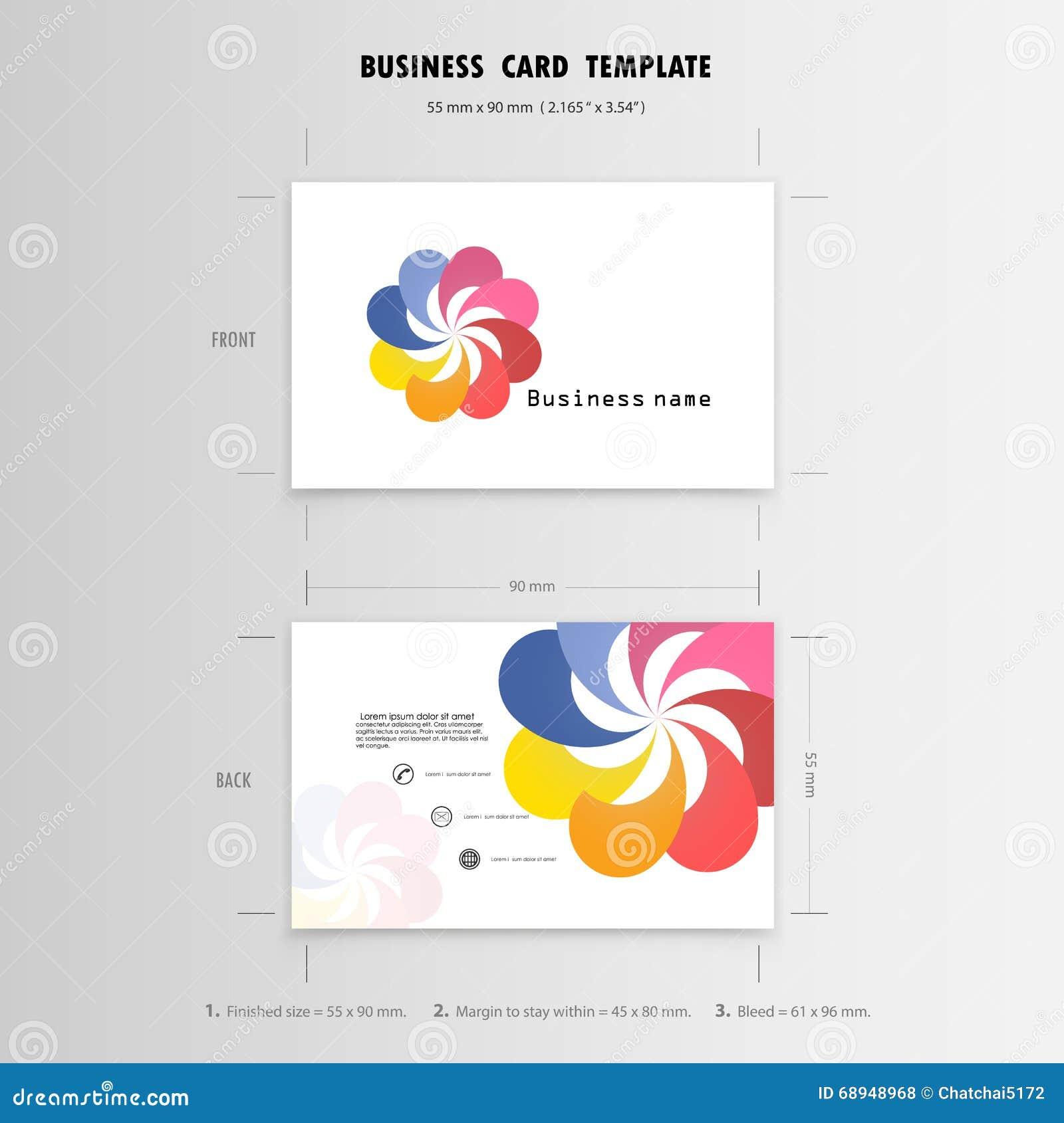 Abstrakte Kreative Visitenkarte-Design-Schablone Namen-Karten Vektor ...