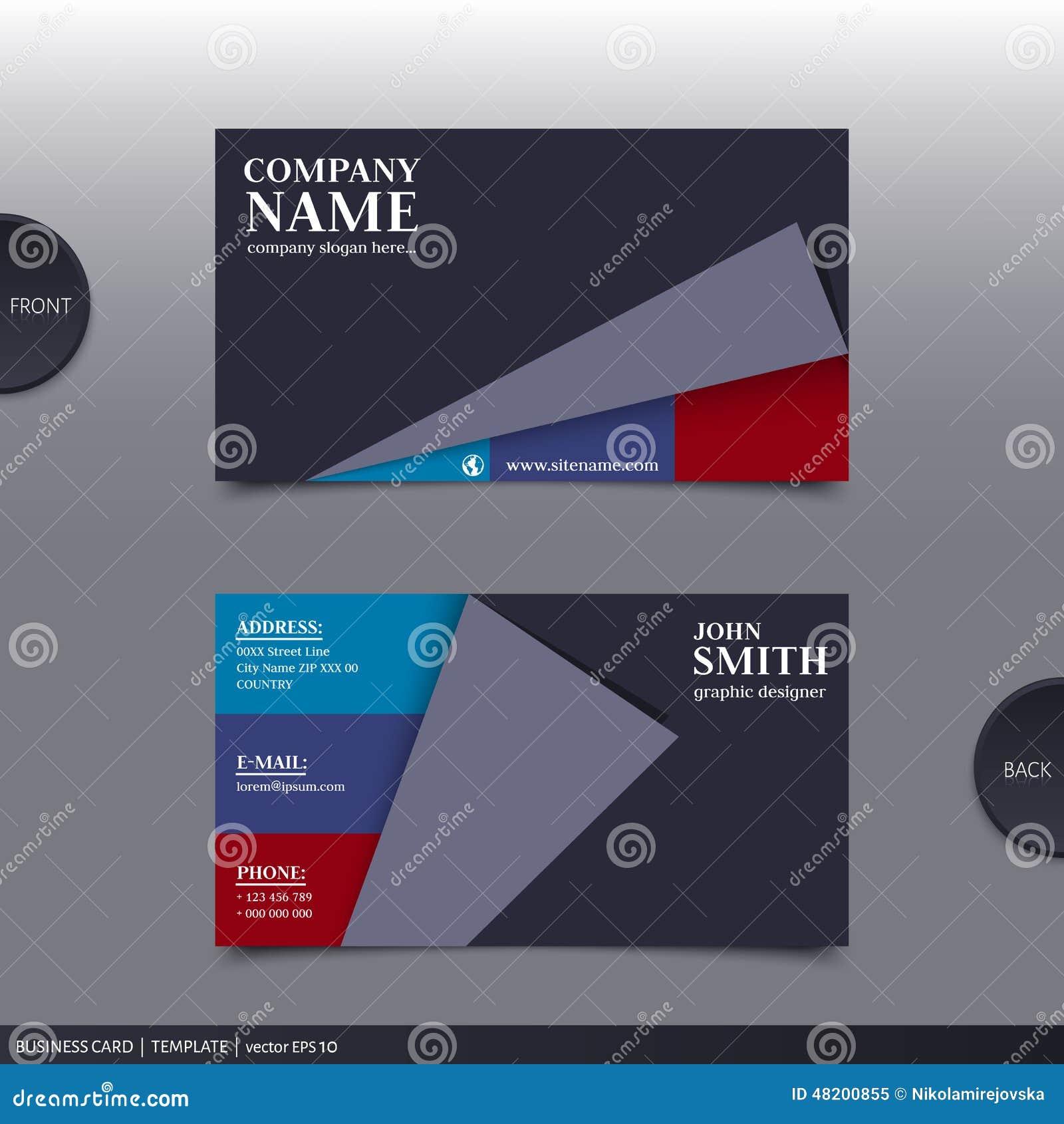 Abstrakte Kreative Visitenkarte Vektor Vektor Abbildung