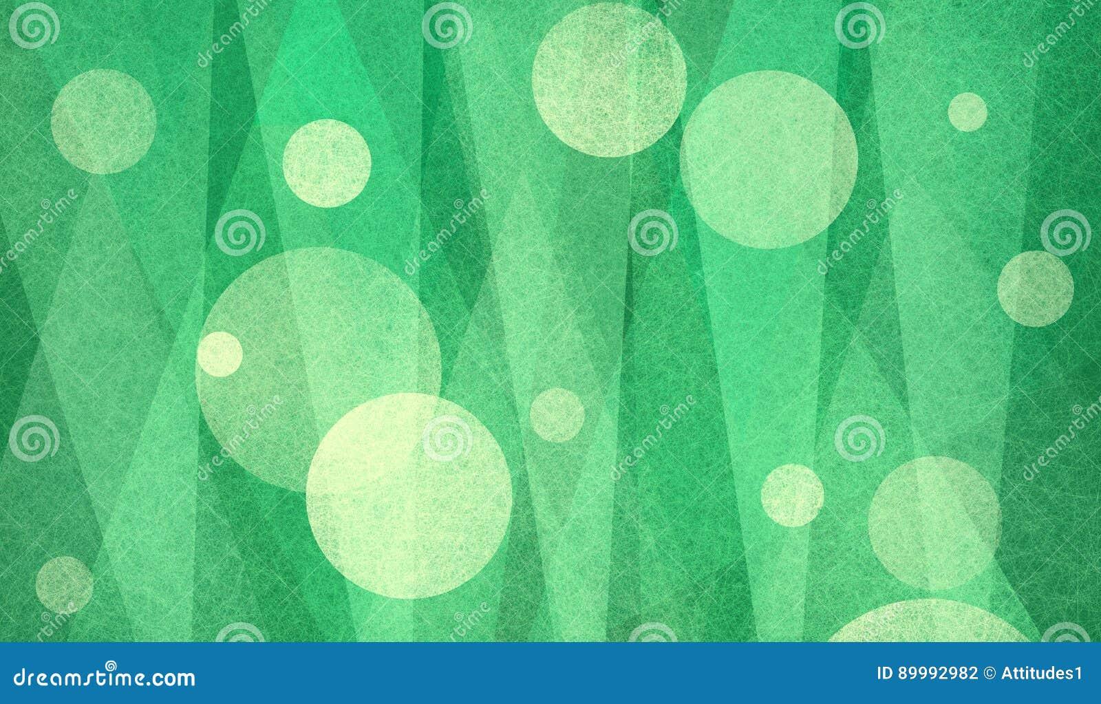 Abstrakte Kreise und Dreiecke im grünen und gelben strukturierten Hintergrunddesign
