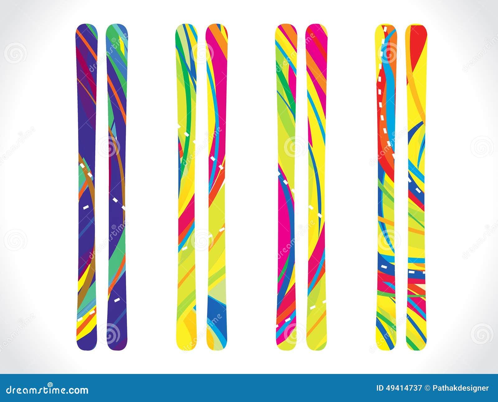Download Abstrakte Mehrfache Bunte Himmel Eingestellt Vektor Abbildung - Illustration von drehzahl, snowboarding: 49414737