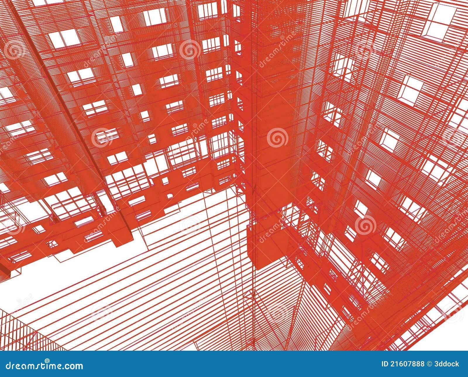 Abstrakte Moderne Architektur Stock Abbildung Illustration Von