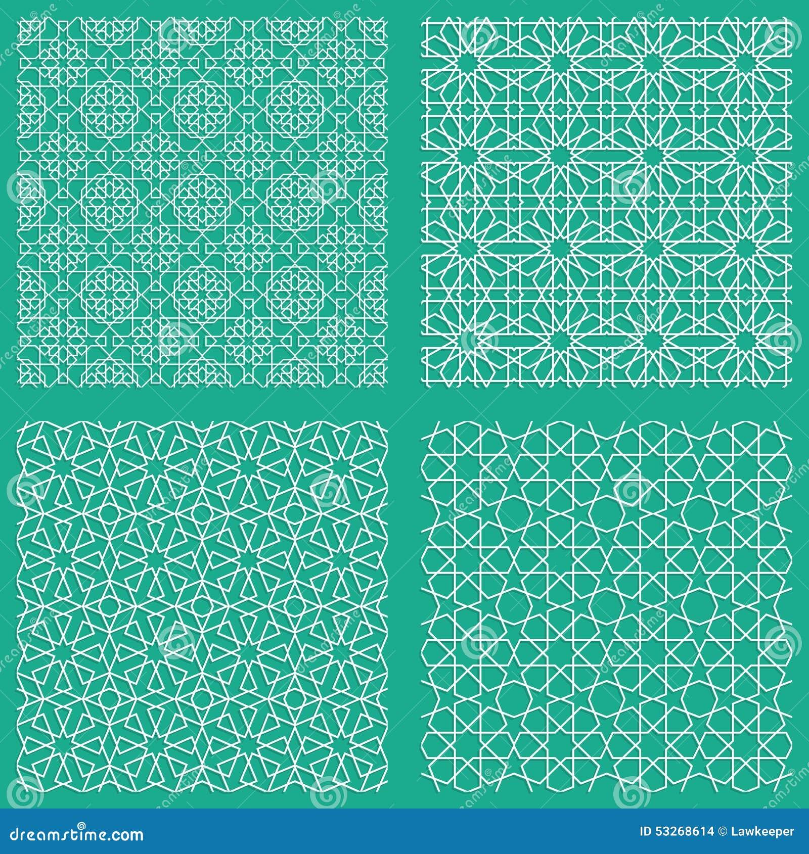 abstrakte nahtlose traditionelle arabische muster vektor