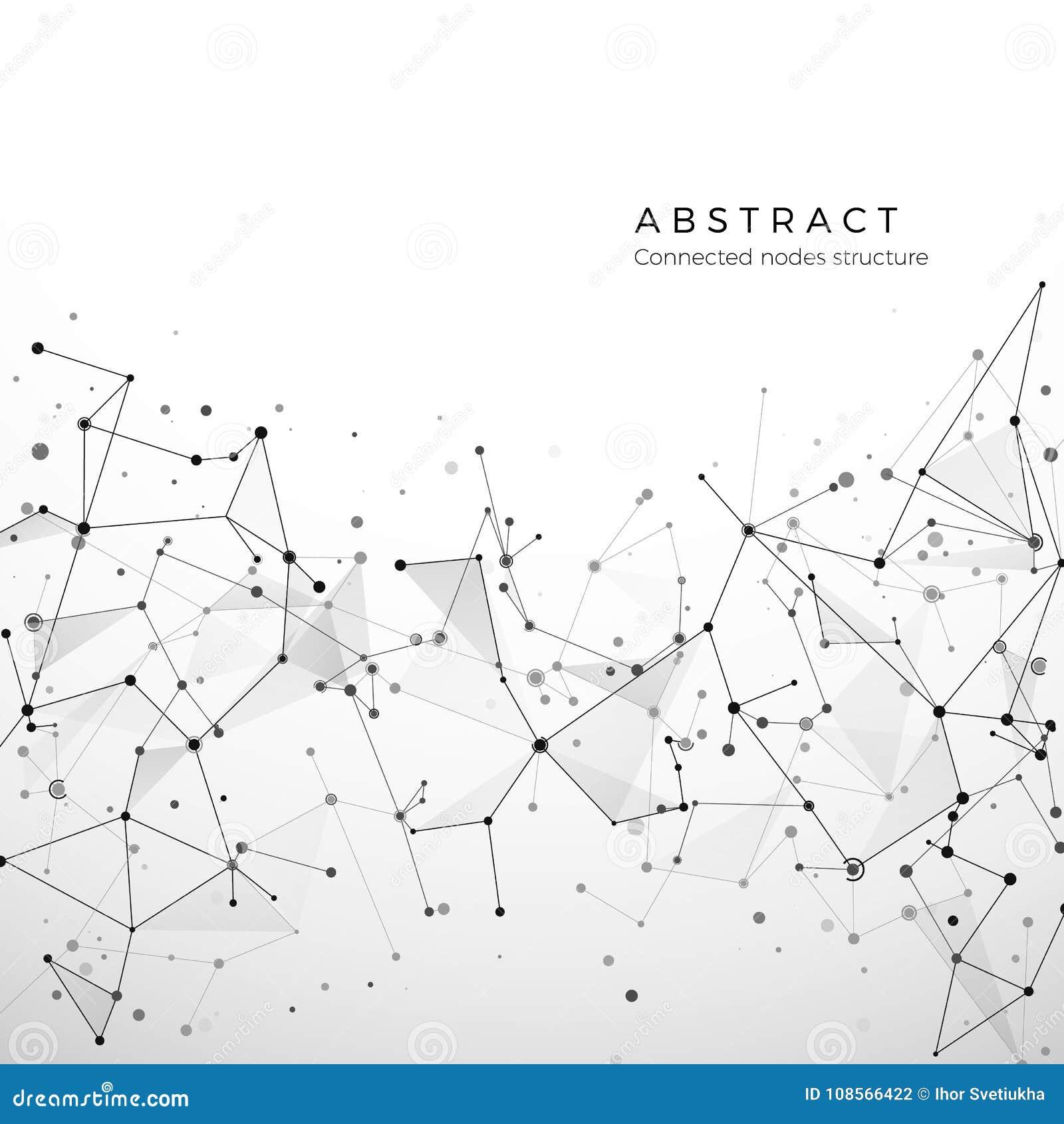 Abstrakte Plexusstruktur von digitalen Daten, von Netz und von Knoten Partikel und Punktverbindung Atom- und Molekülkonzept