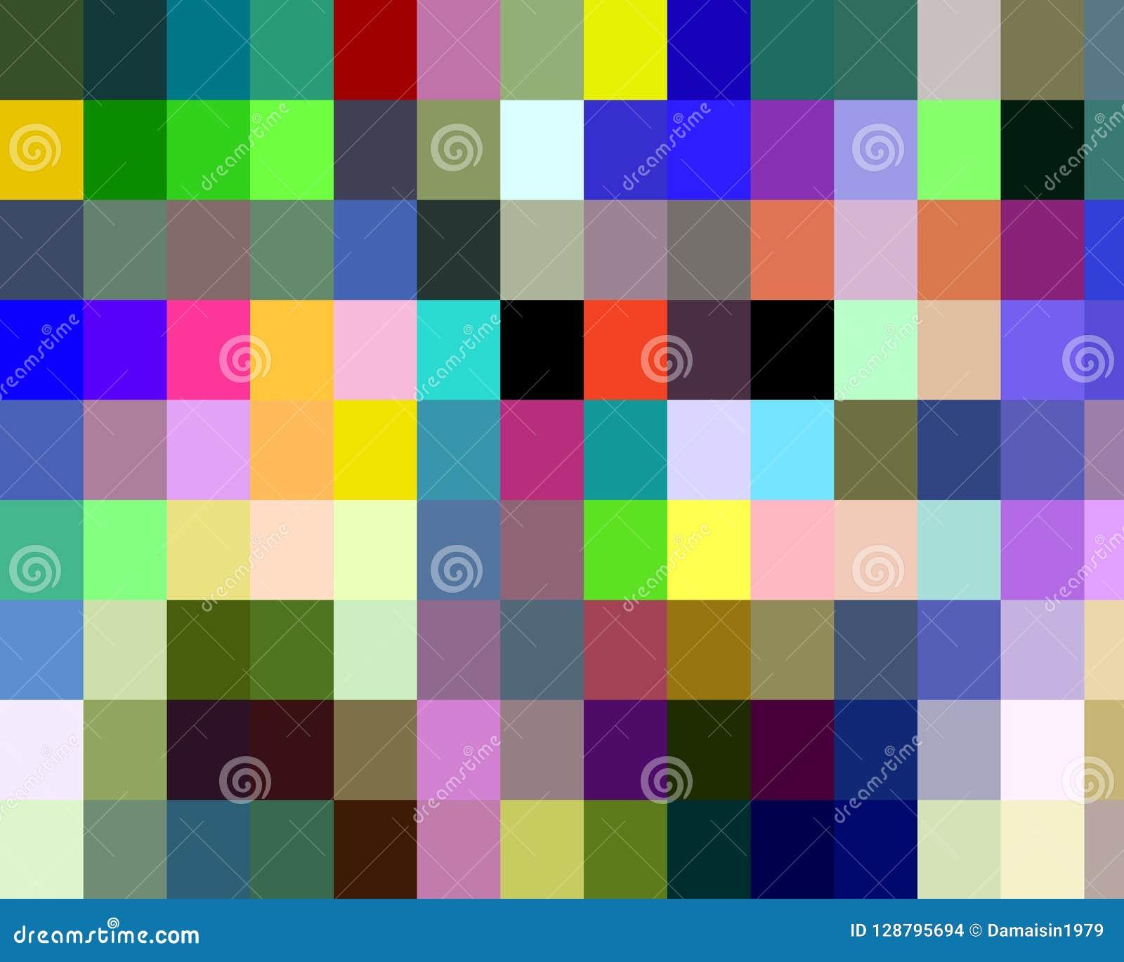 Abstrakte purpurrote rosa Gelbgrünquadratformen, -graphiken, -geometrie, -hintergrund und -beschaffenheit