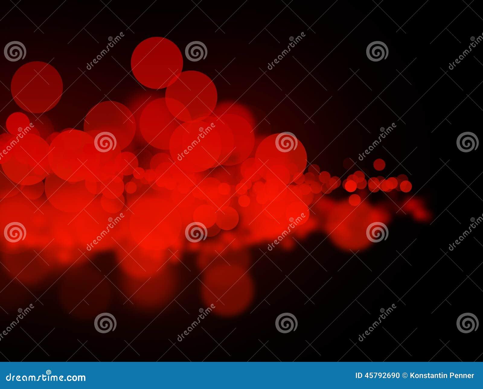 Abstrakte rote bokeh Kreise
