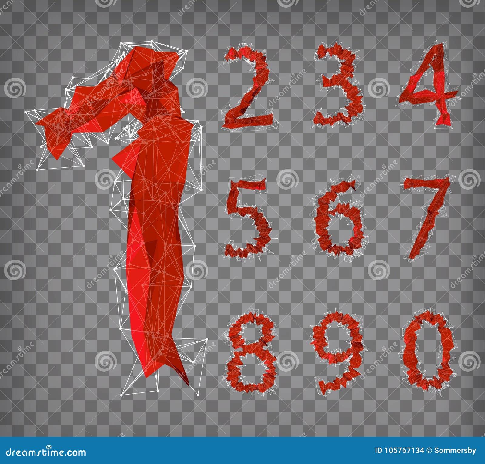 Download Abstrakte Rote Moderne Dreieckige Sammlung Zahlen Vektor Abbildung    Illustration Von Zahl, Abbildung: