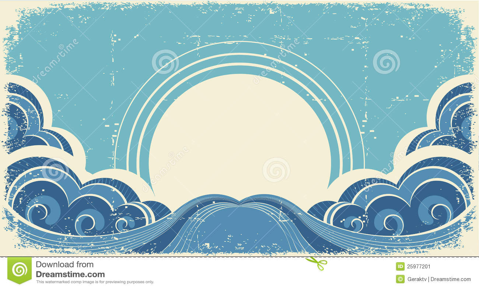 Abstrakte Seewellen.