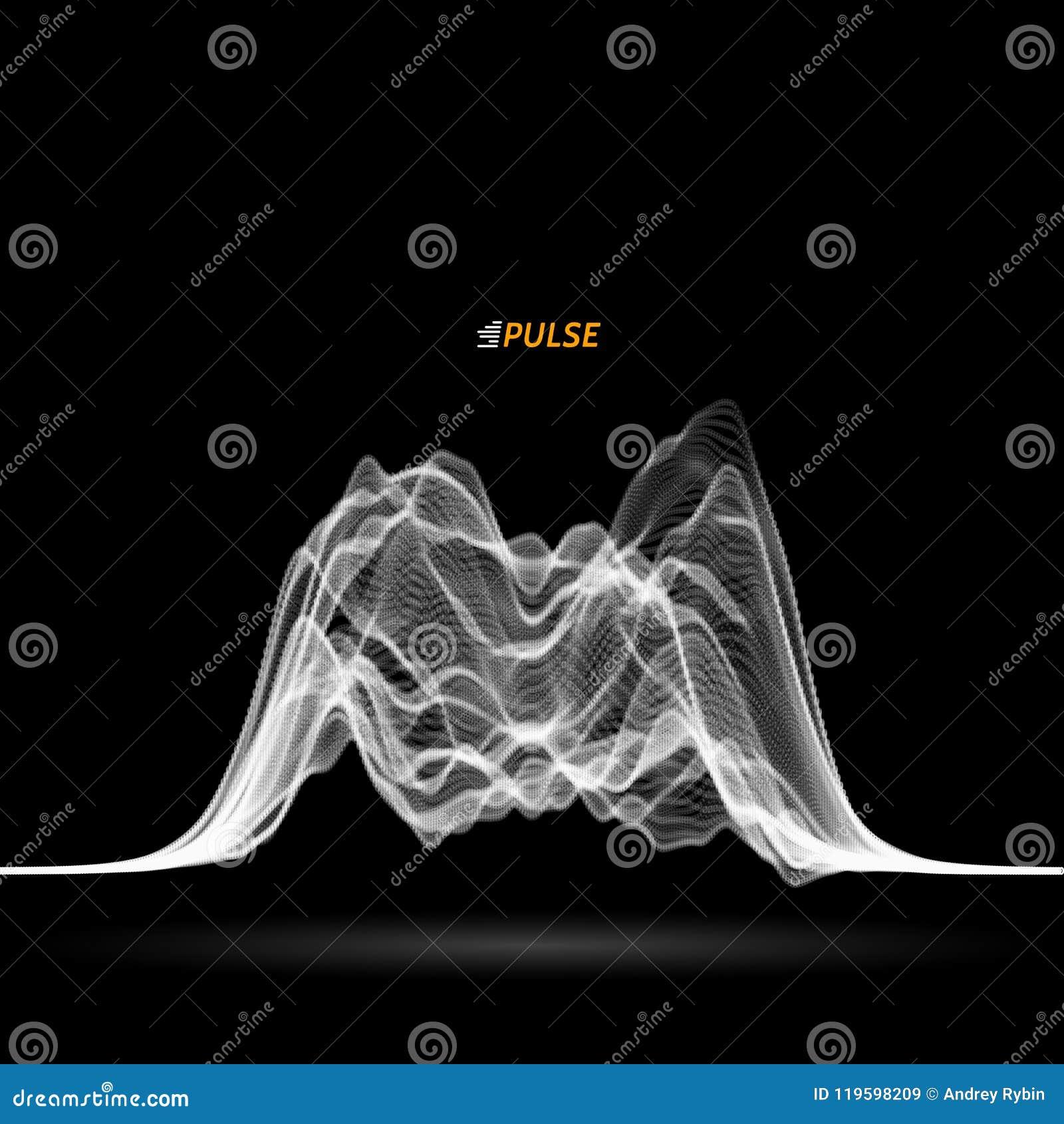Abstrakte Vektorsignalwelle
