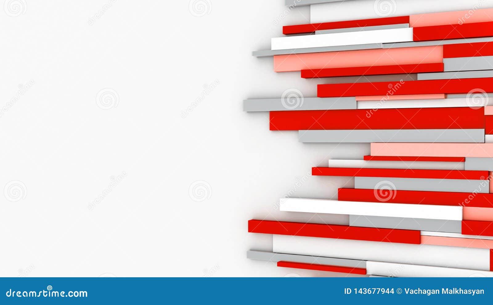 Abstrakte Wand Nachrichtenraum Rote Zeilen Wiedergabe 3d Stock Abbildung   Illustration von ...