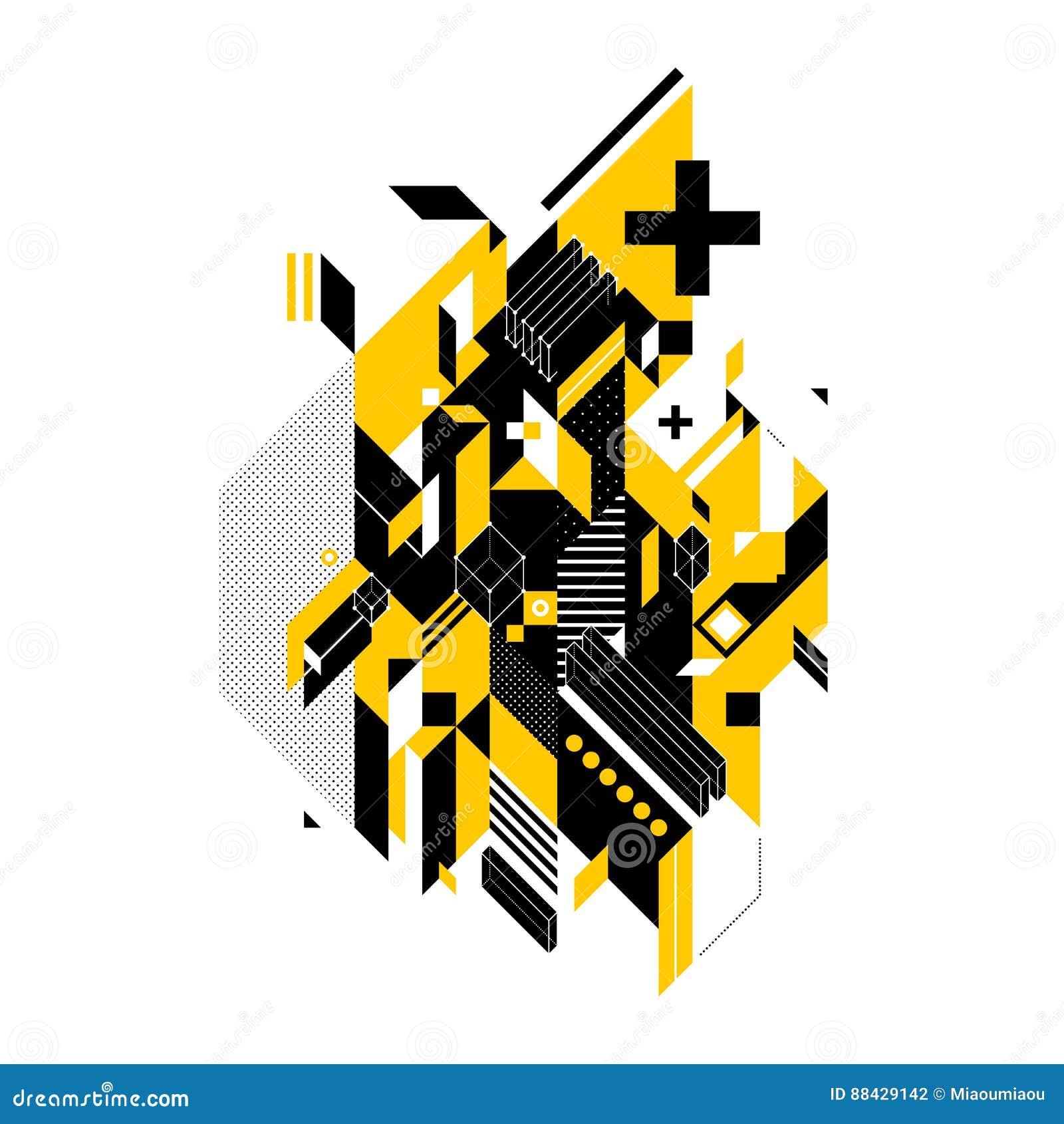 Abstrakte Zusammensetzung von geometrischen Formen