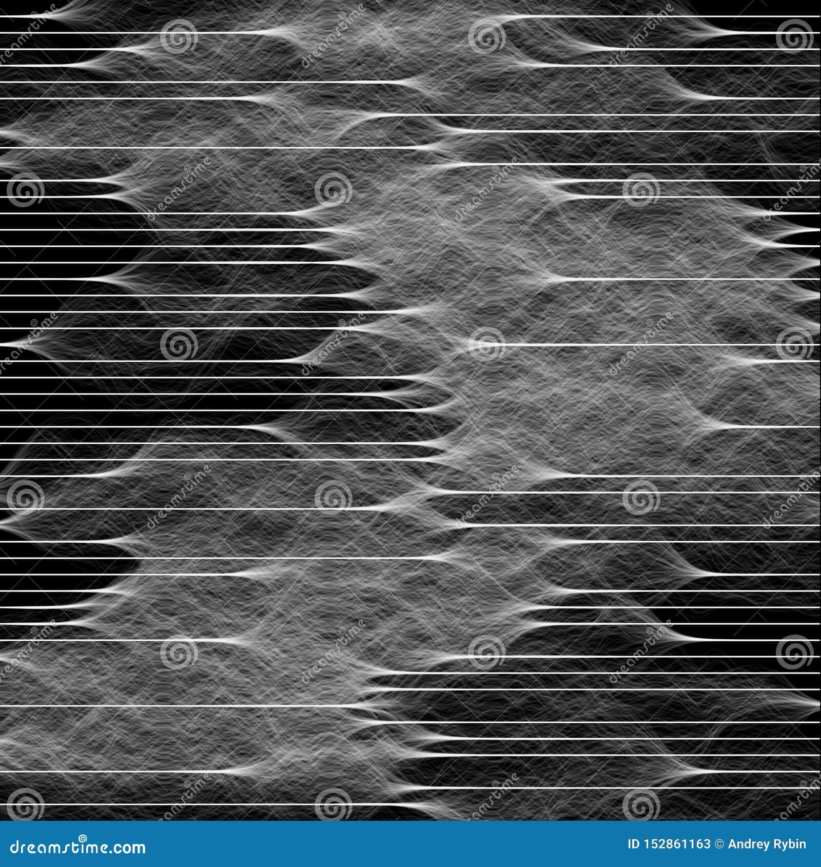 Abstrakte Zusammensetzung von Wellen, Signale Hintergrundillustration für technologischen Entwurf