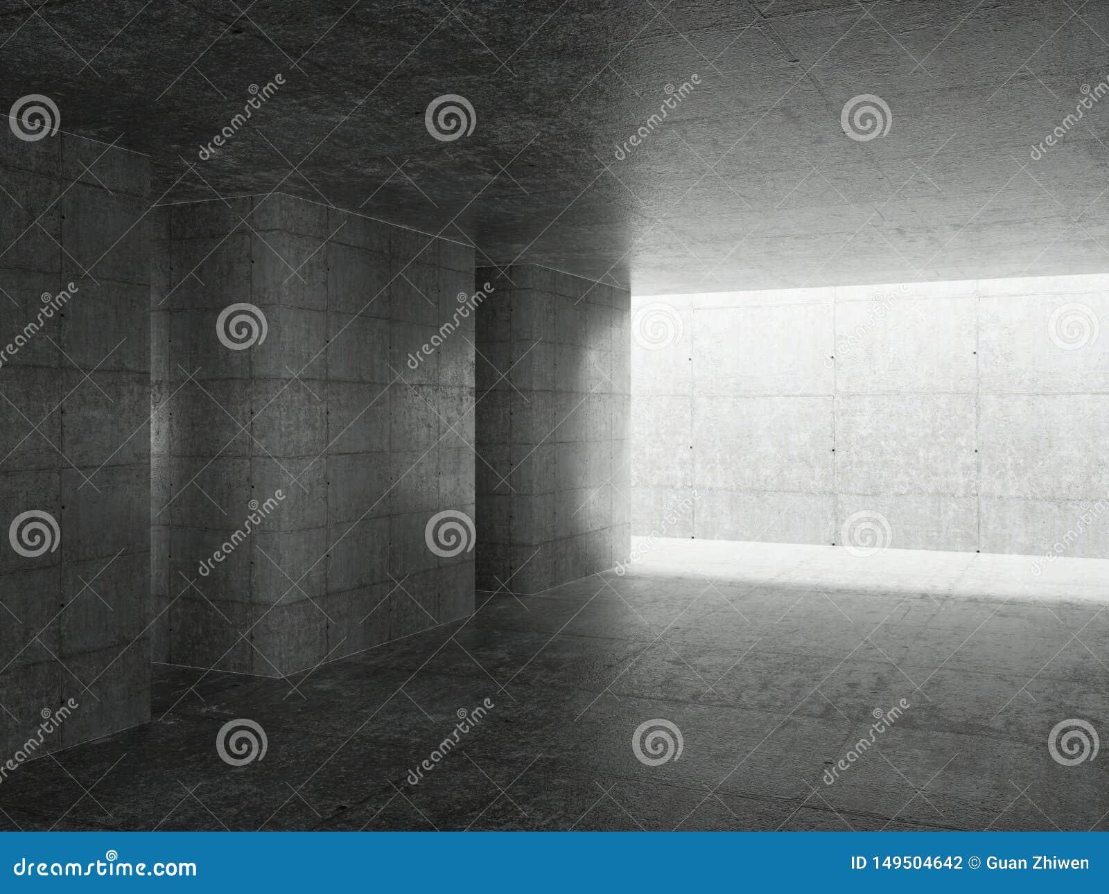 Abstrakter Architektur-Innenraum
