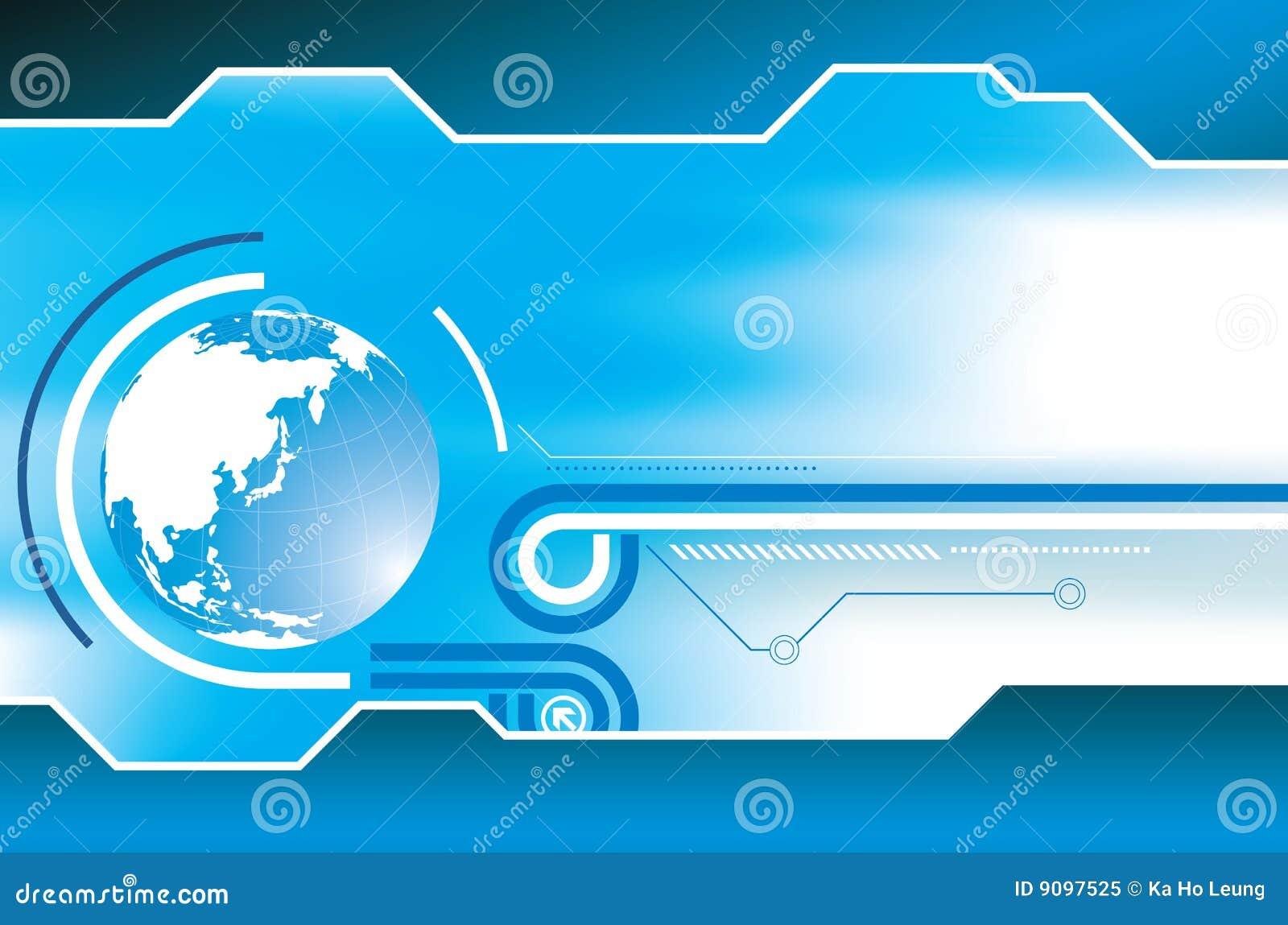 Abstrakter blauer Kugel-Hintergrund
