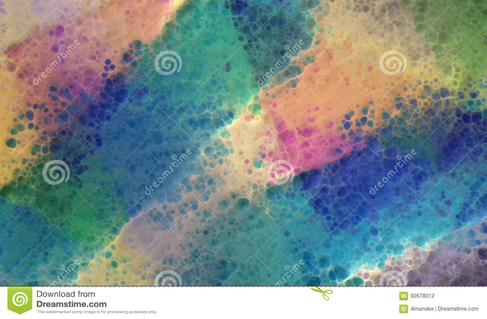 Abstrakter bunter Hintergrund mit Farbenbeschaffenheit des Schmutzes 3d und spritzt von orange rosa Gelbem des blauen Grüns der K