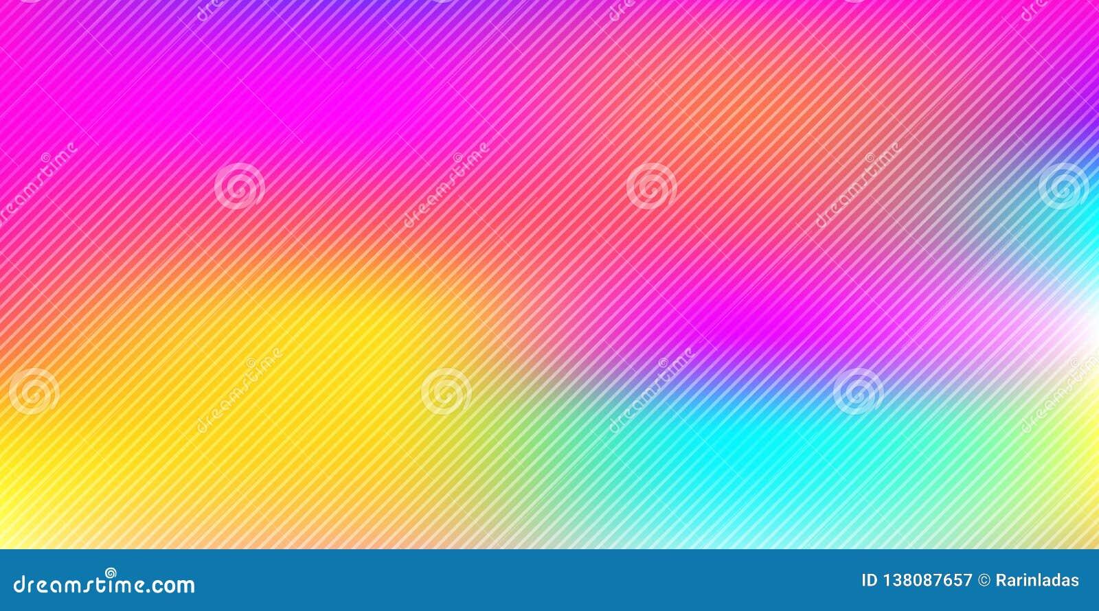 Abstrakter bunter Regenbogen unscharfer Hintergrund mit diagonalen Linien Musterbeschaffenheit