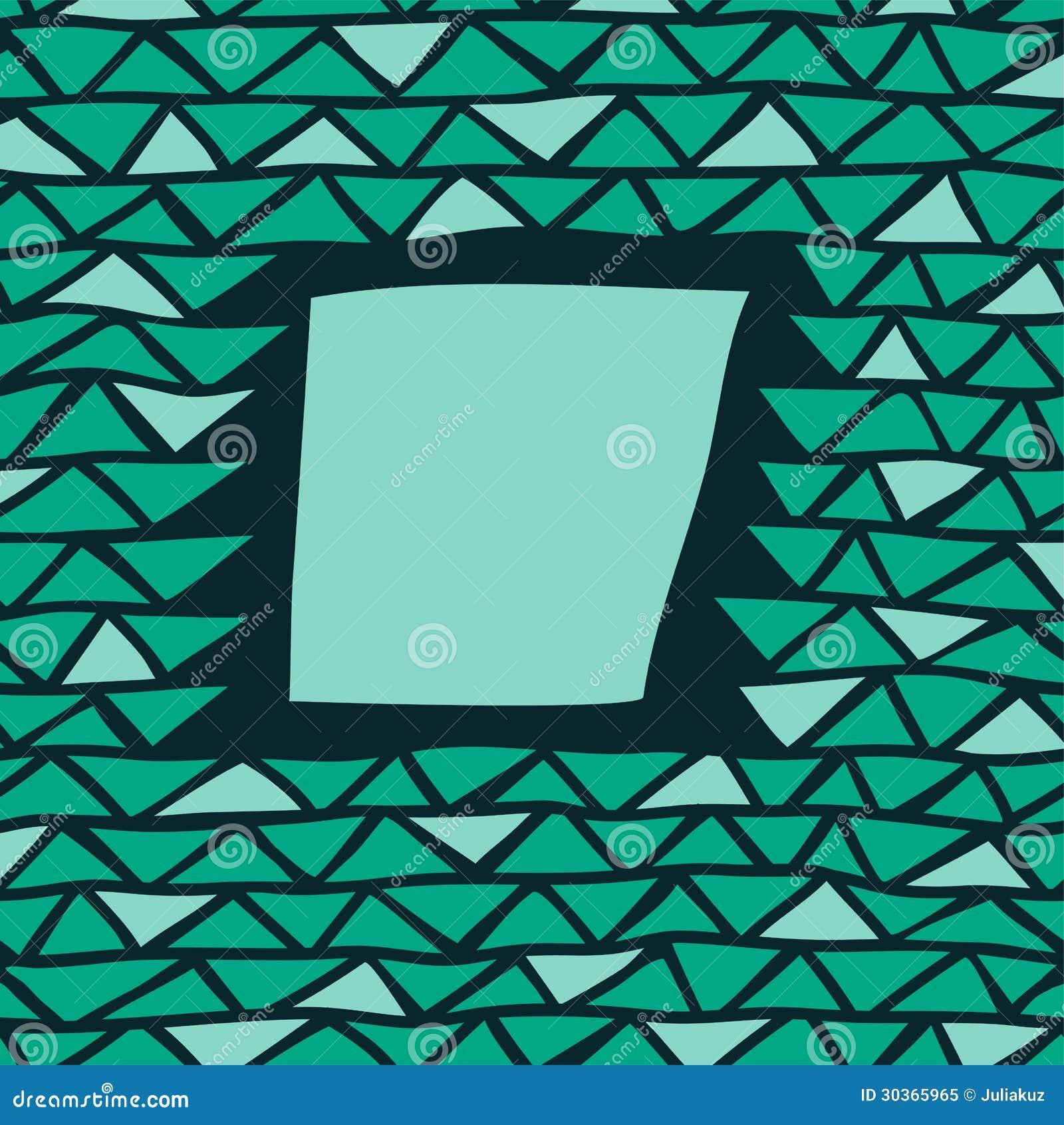Abstrakter Dreieckrahmen vektor abbildung. Illustration von anstrich ...