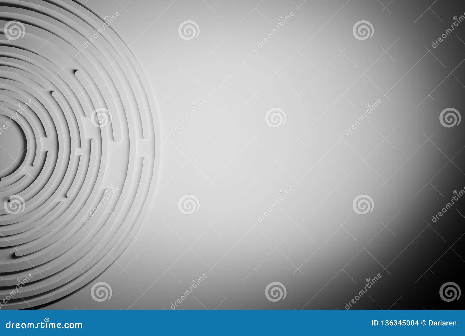 Abstrakter einfarbiger Hintergrund mit Kreisformen