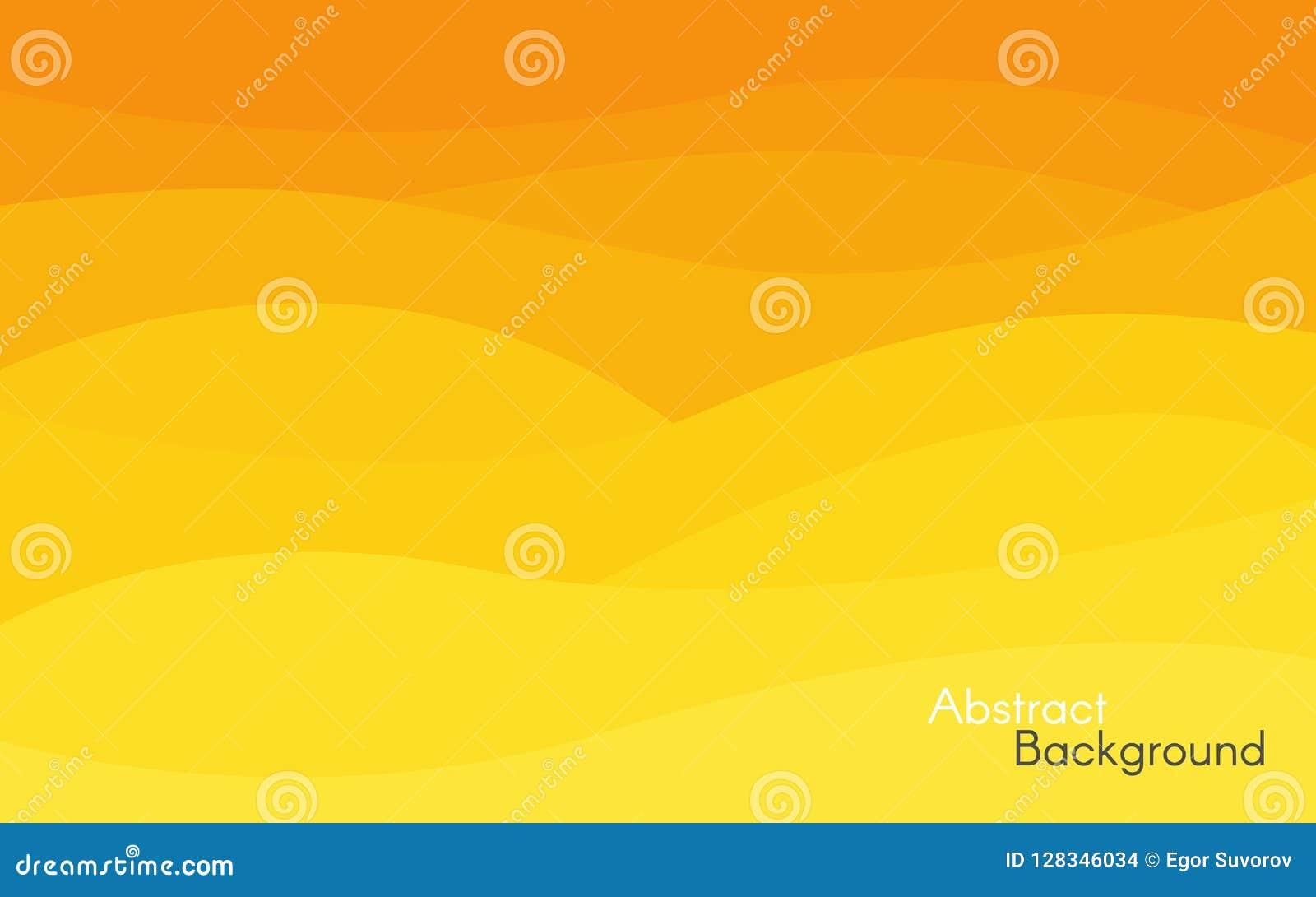 Abstrakter gelber und orange Hintergrund Helles Wellendesign Unbedeutender Hintergrund für Website, Plakat, Karte glatt