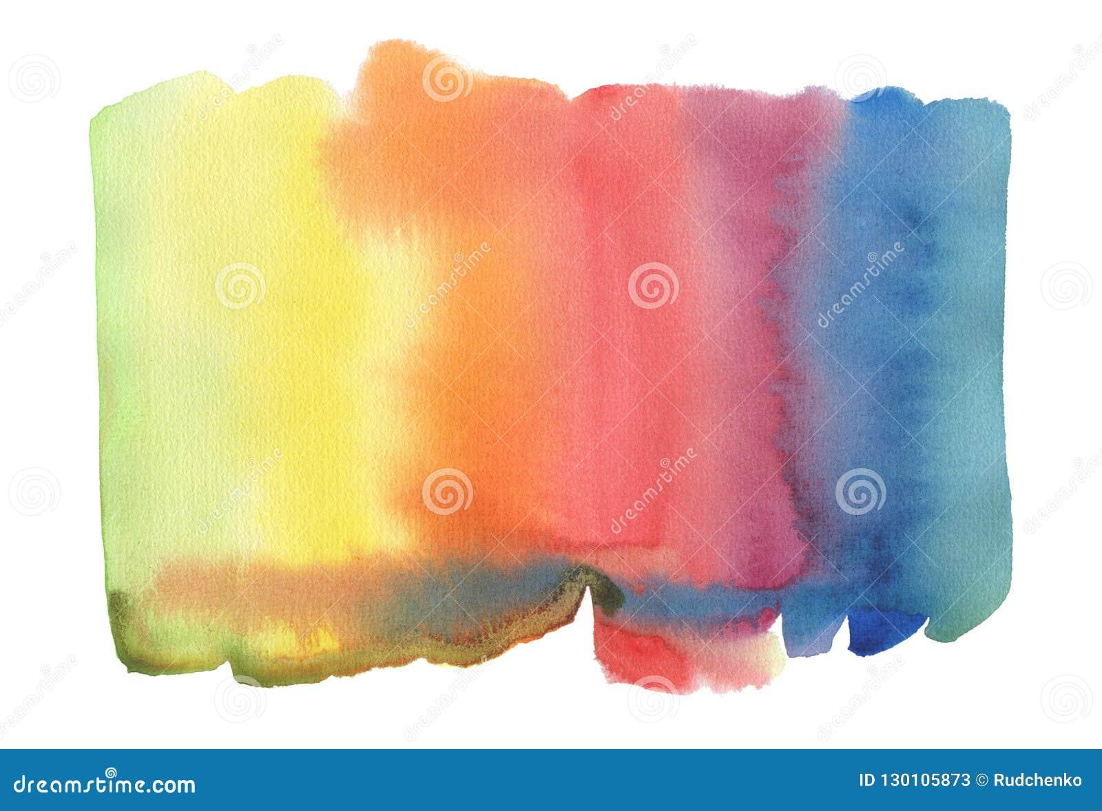 Abstrakter gemalter Hintergrund des Aquarells Fleck Getrennt