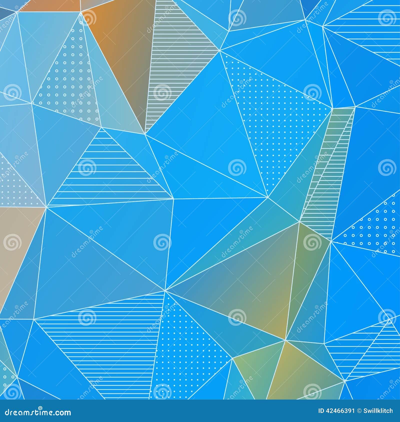Abstrakter geometrischer Hintergrund mit blauen Dreiecken