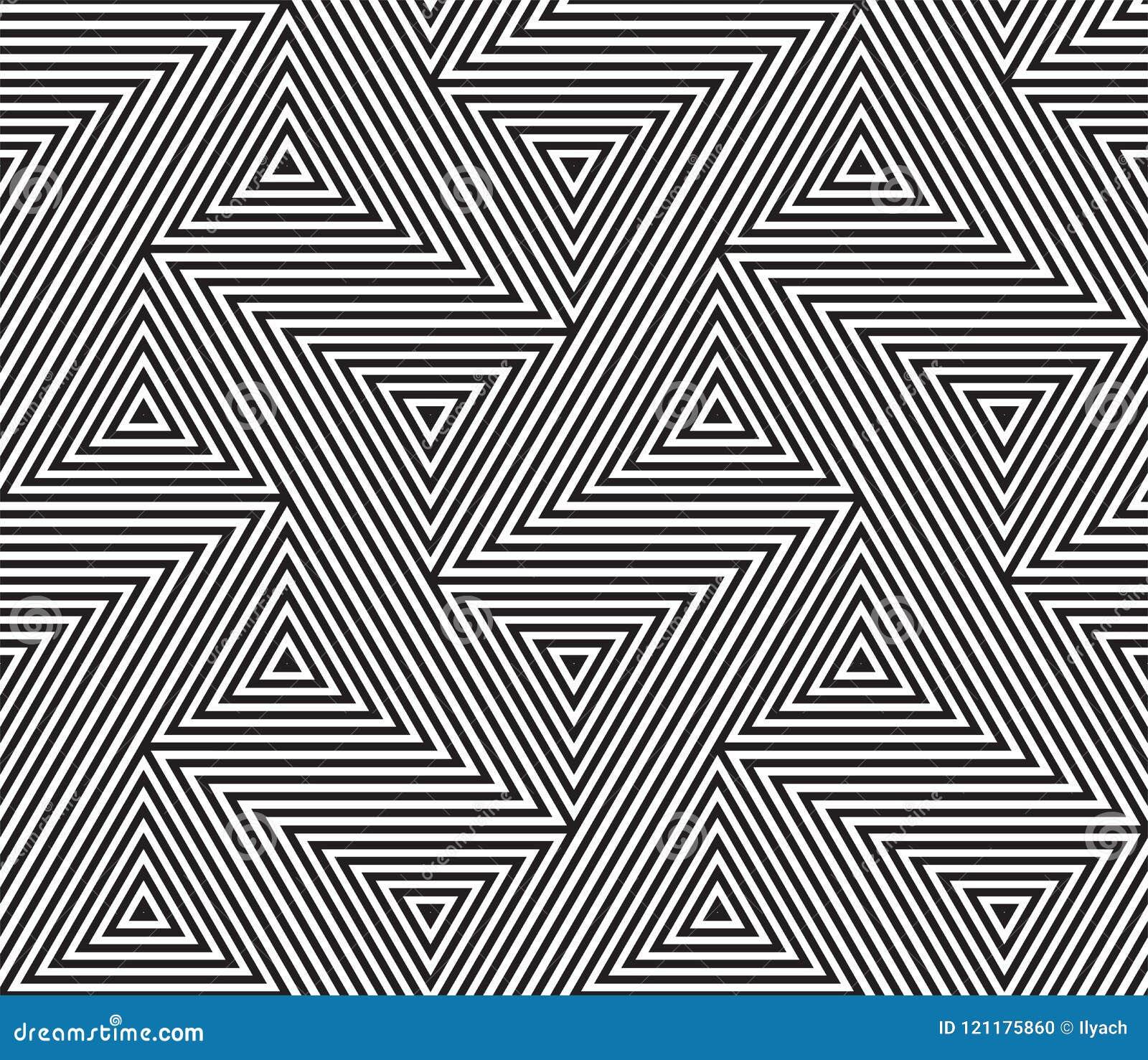 Abstrakter geometrischer nahtloser Mustervektorhintergrund
