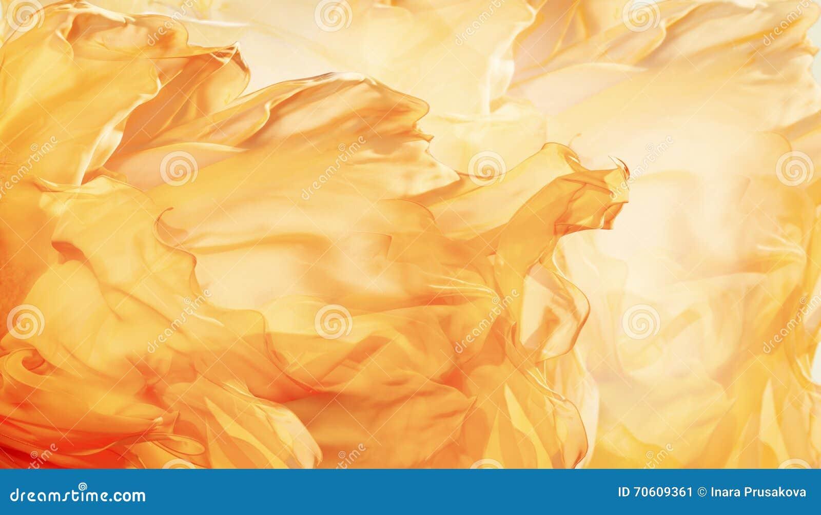Abstrakter Gewebe-Flammen-Hintergrund, künstlerischer wellenartig bewegender Stoff Fractal