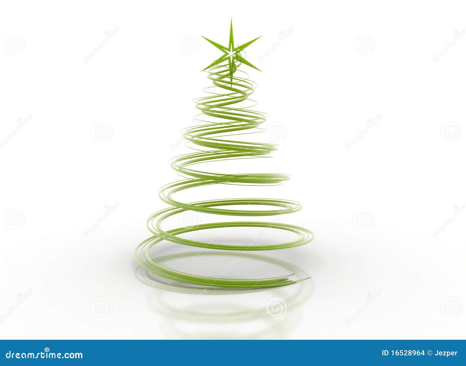 abstrakter gr ner spial weihnachtsbaum stock abbildung. Black Bedroom Furniture Sets. Home Design Ideas
