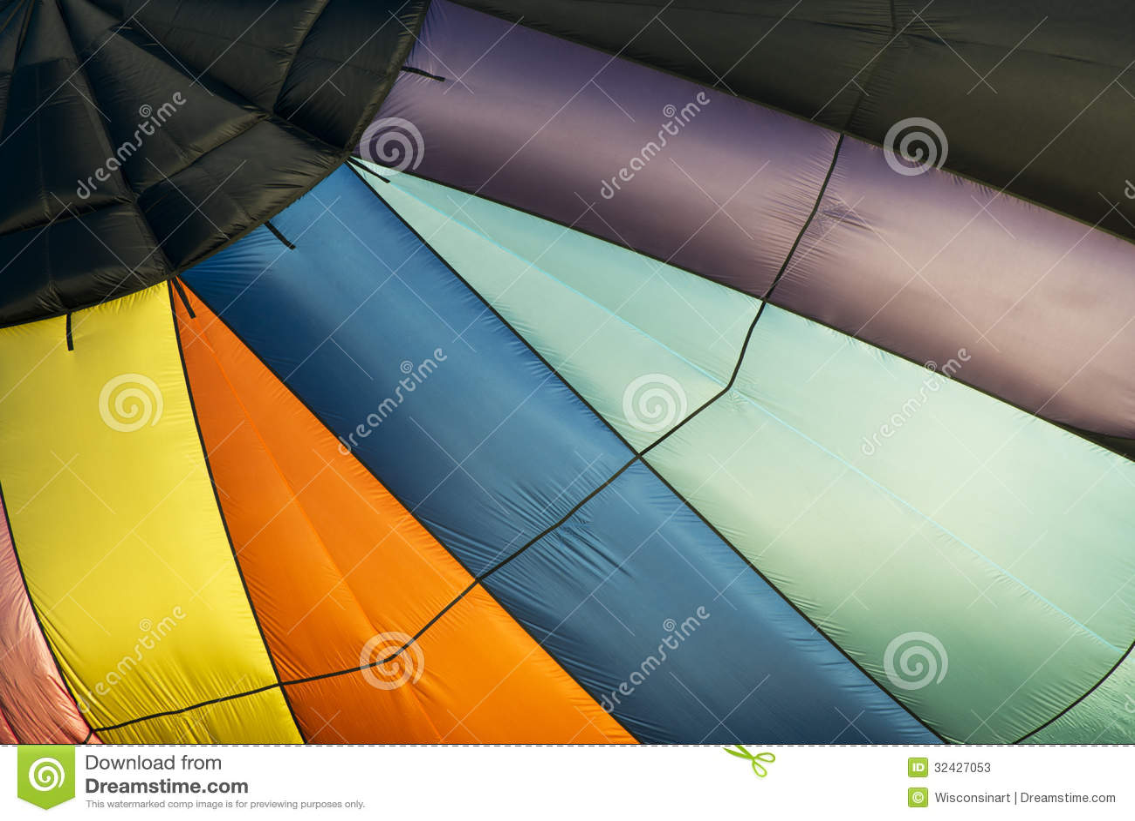 Abstrakter Heißluft-Ballon-Hintergrund, Farben