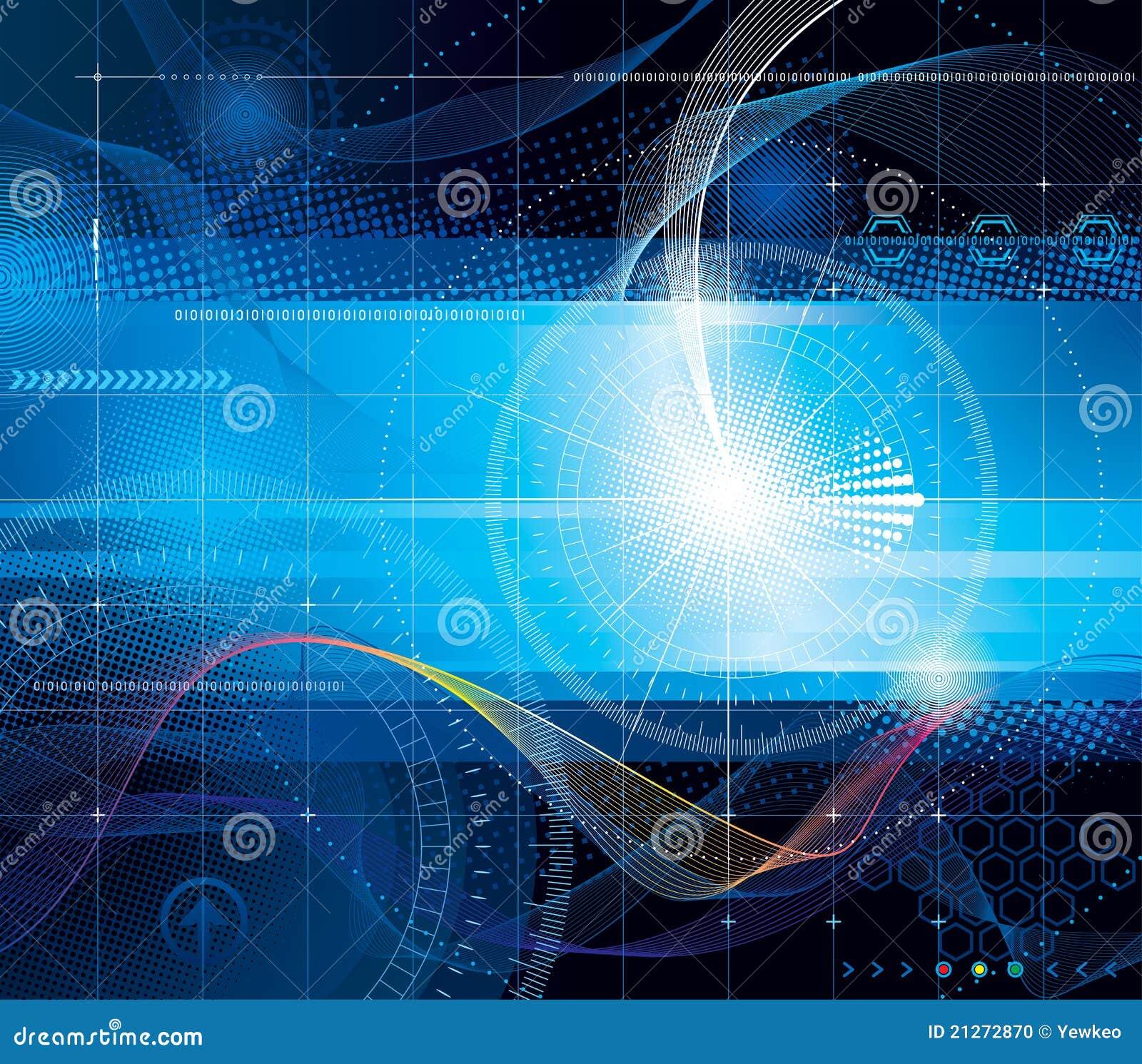 Abstrakter Hintergrund der Technologie