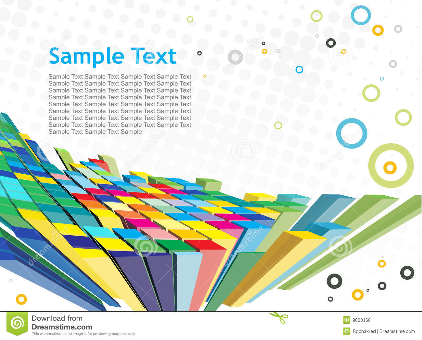 Abstrakter Hintergrund des Mosaiks 3d