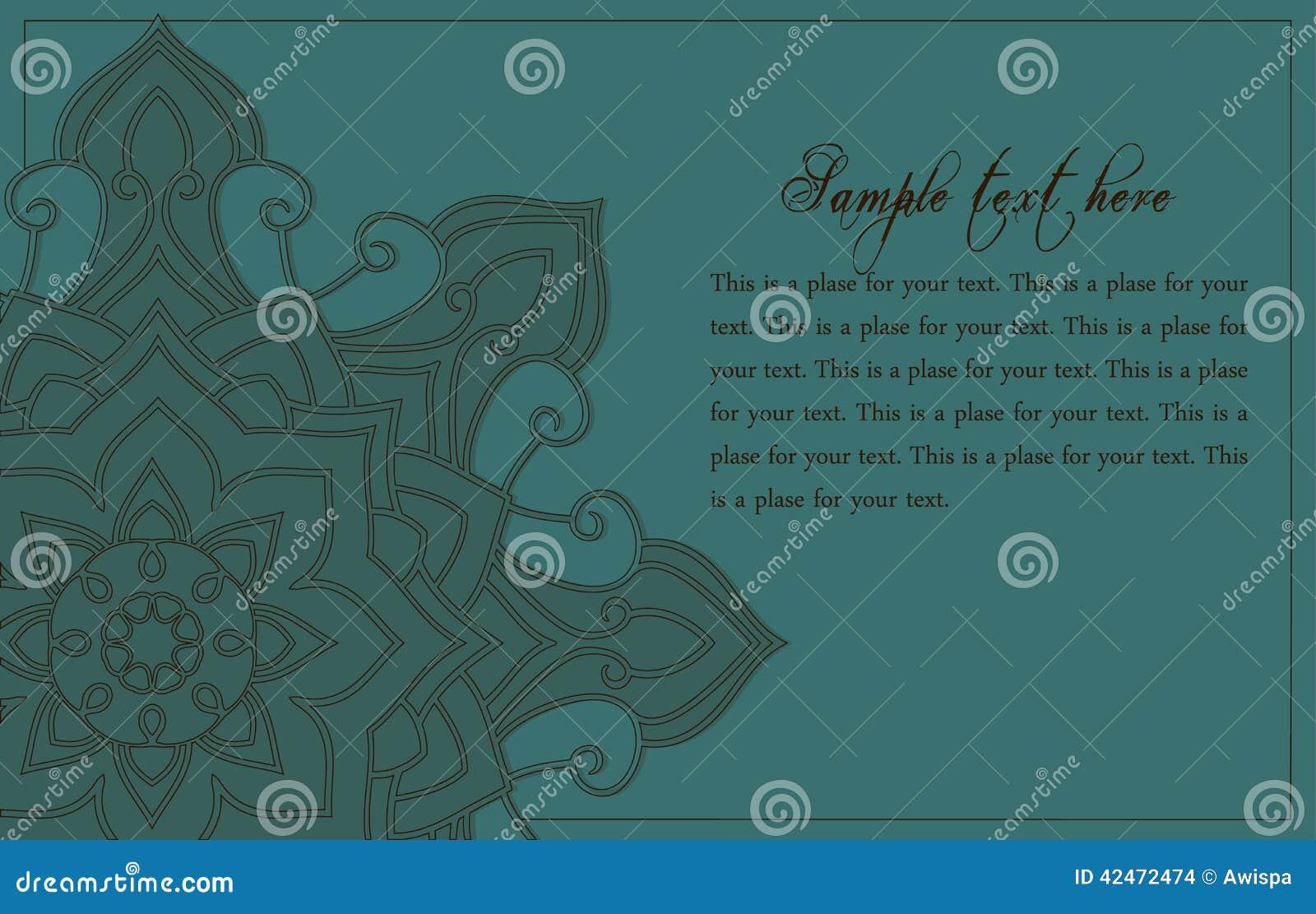 Abstrakter Hintergrund mit Mandalaelement