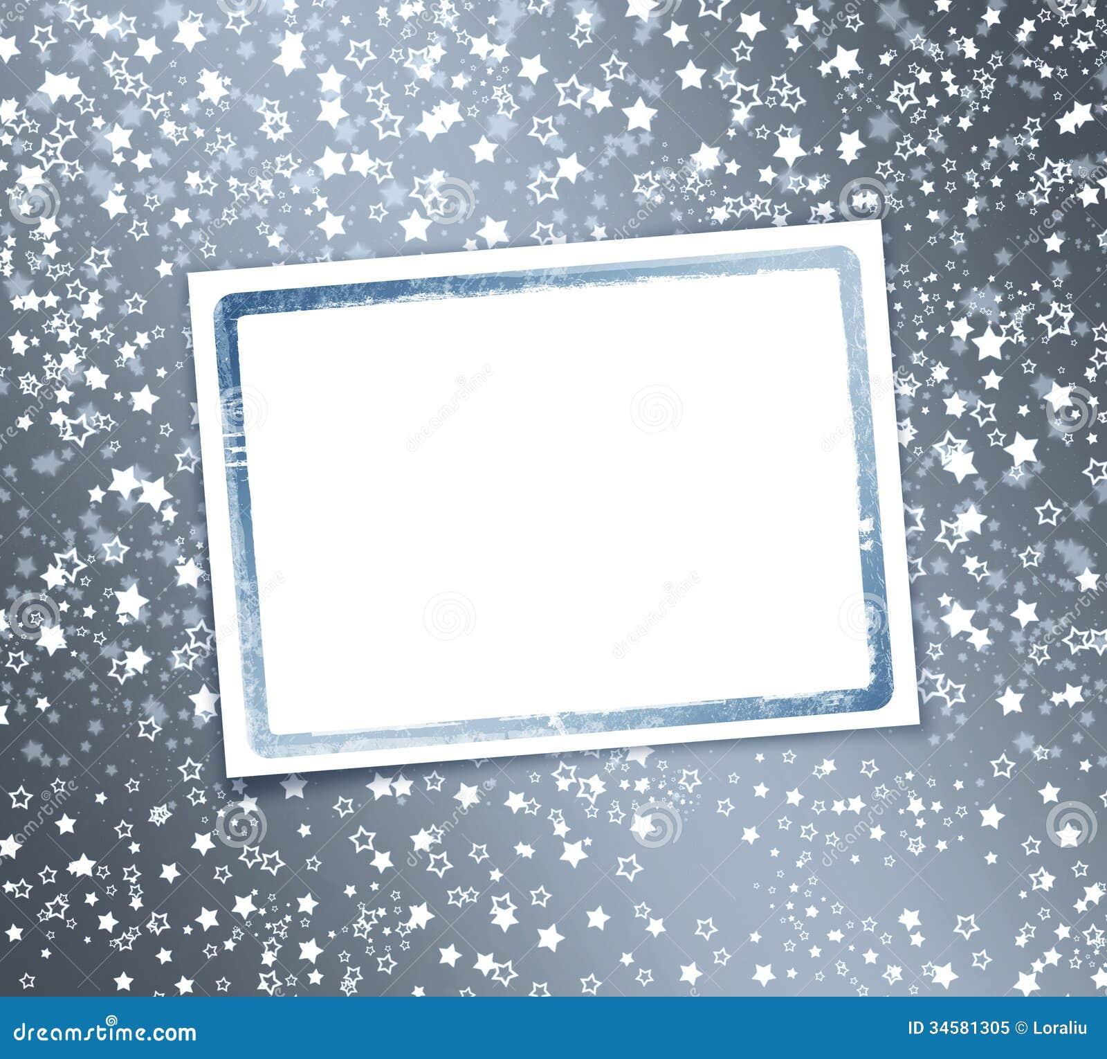Abstrakter Hintergrund mit Schneeflocken, Sterne