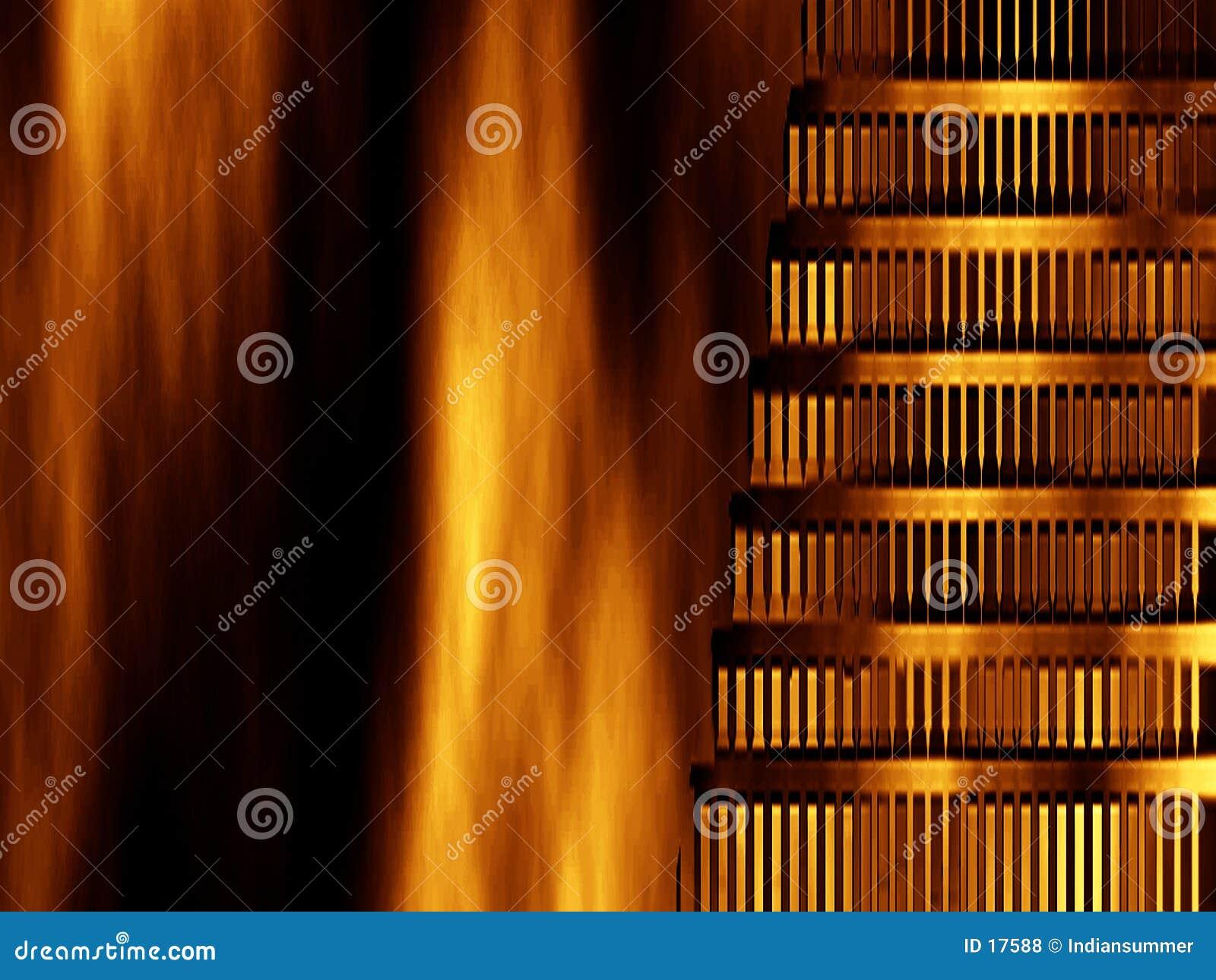 Abstrakter Hintergrund Nero gebranntes Rom