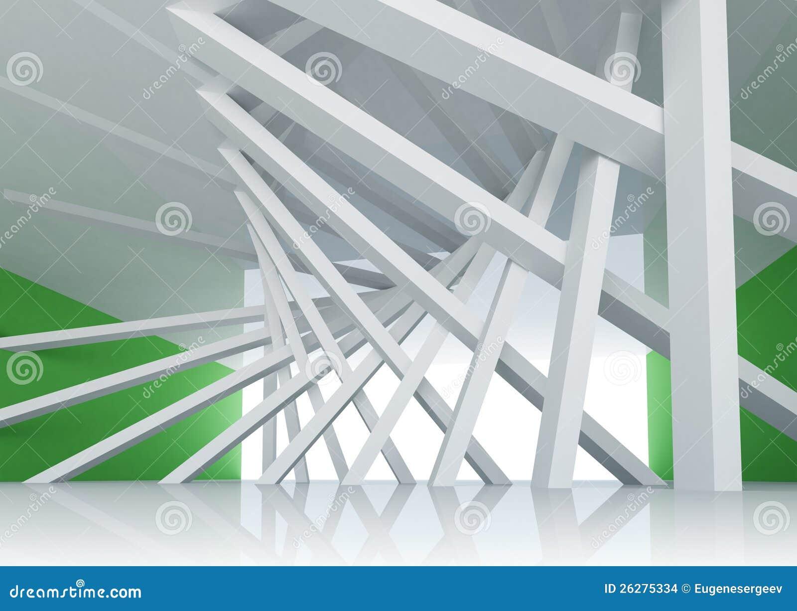abstrakter hintergrund raum innenraum der architektur 3d stockbilder bild 26275334. Black Bedroom Furniture Sets. Home Design Ideas