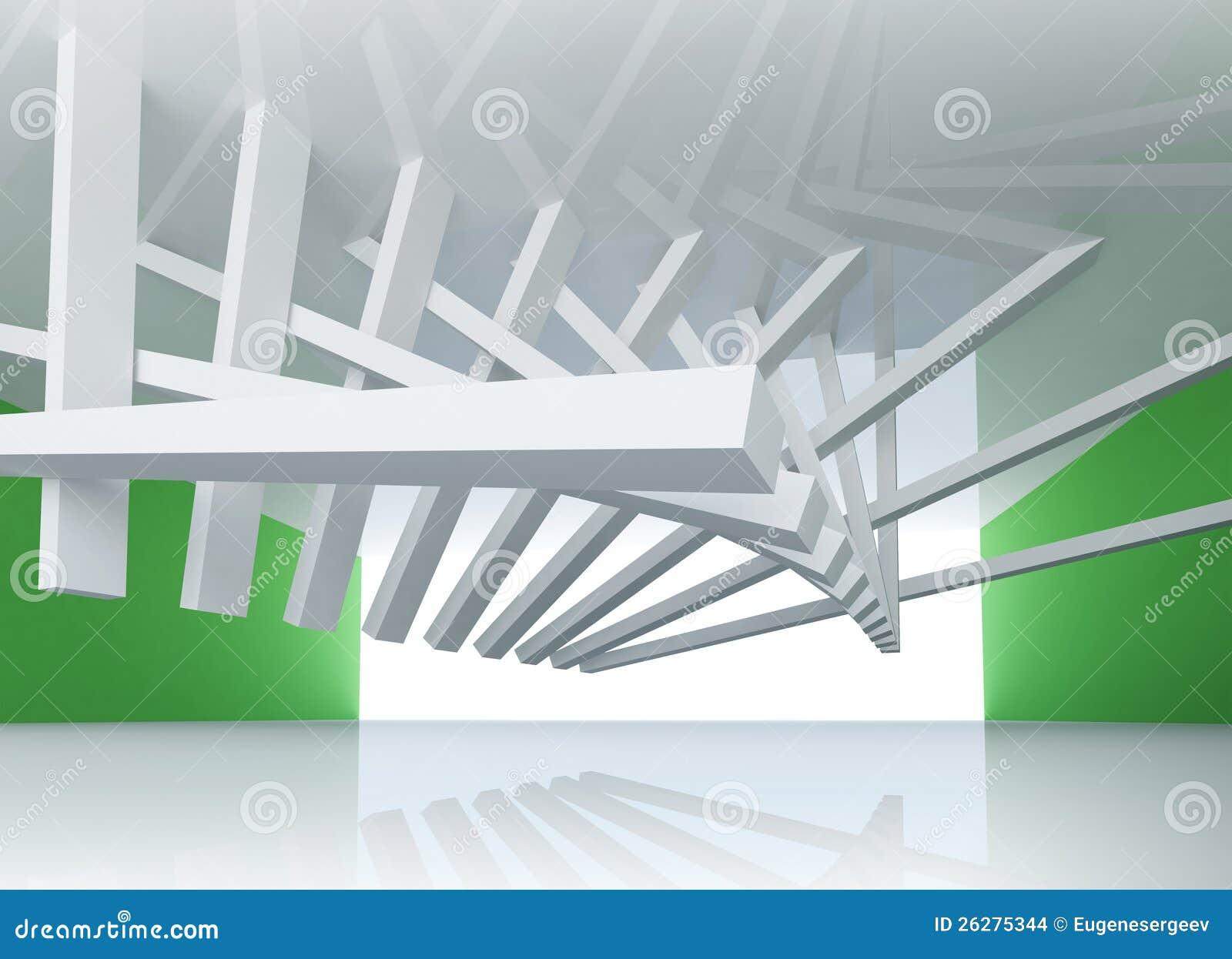 abstrakter hintergrund raum innenraum der architektur 3d stockbilder bild 26275344. Black Bedroom Furniture Sets. Home Design Ideas