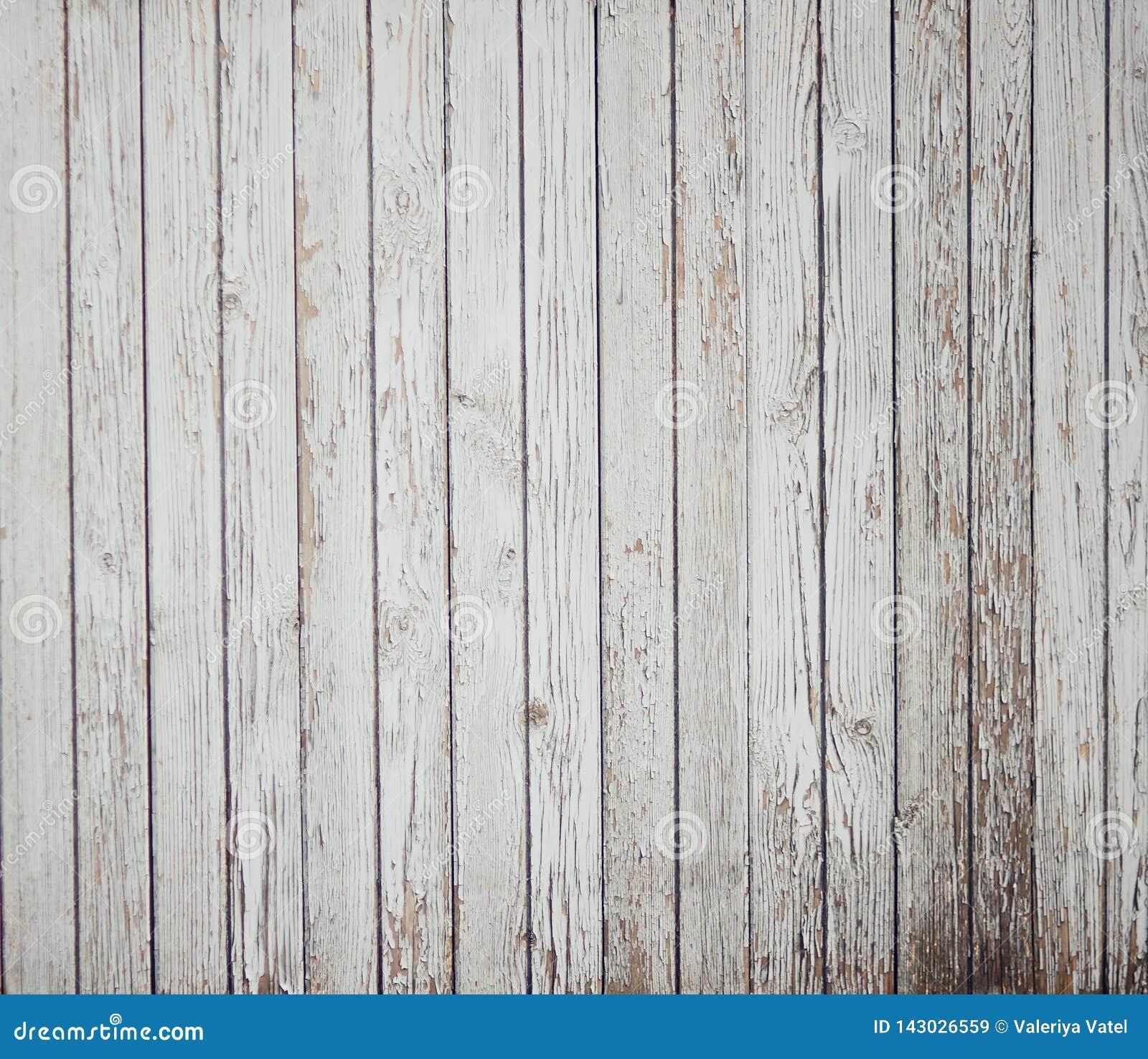Abstrakter Hintergrund von alten gemalten weißen Brettern