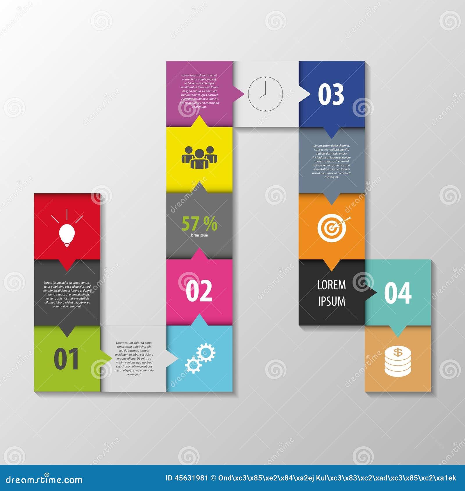 Abstrakter infographic Vektor Quadratartschablone