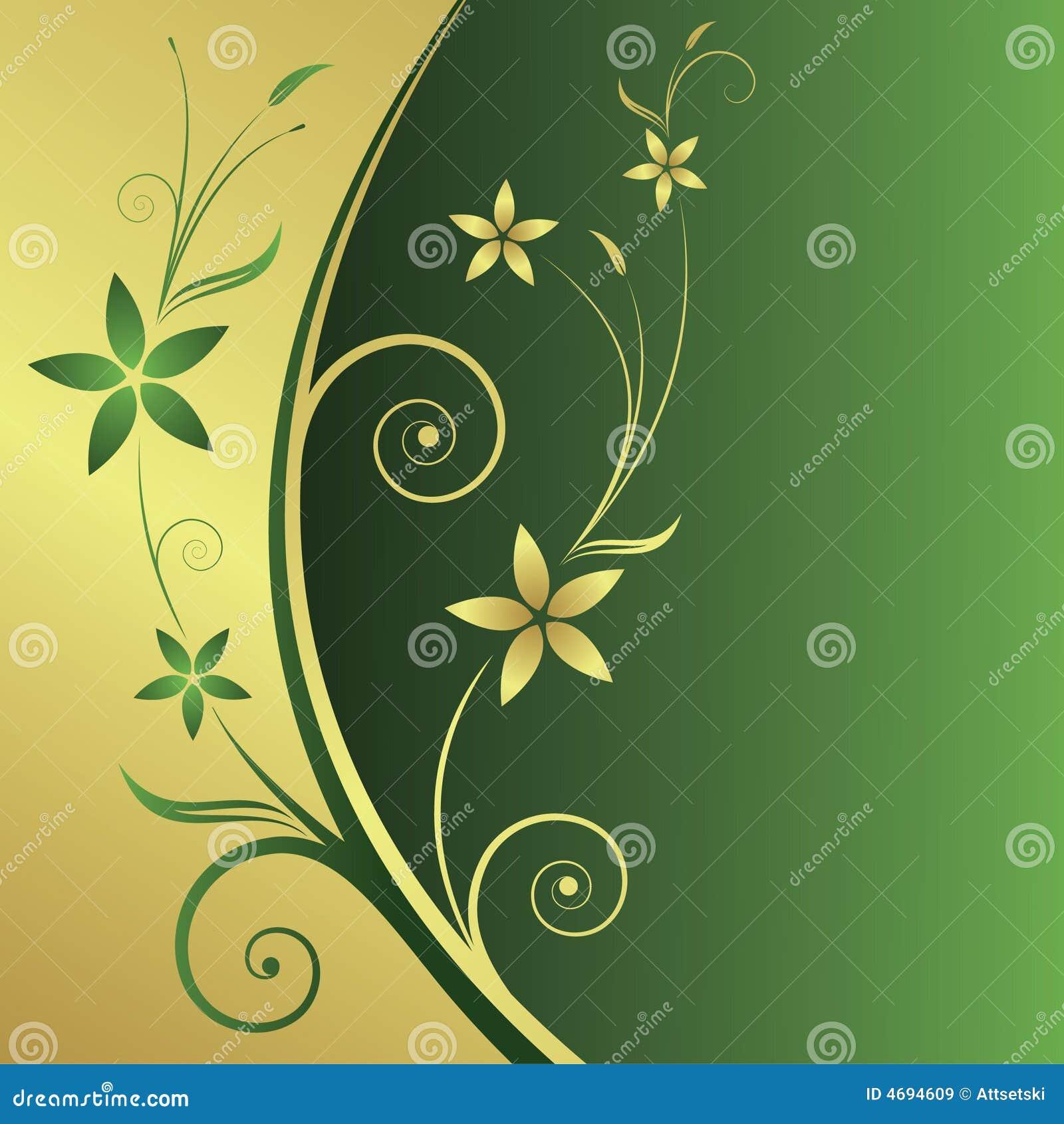 Abstrakter mit Blumenhintergrund