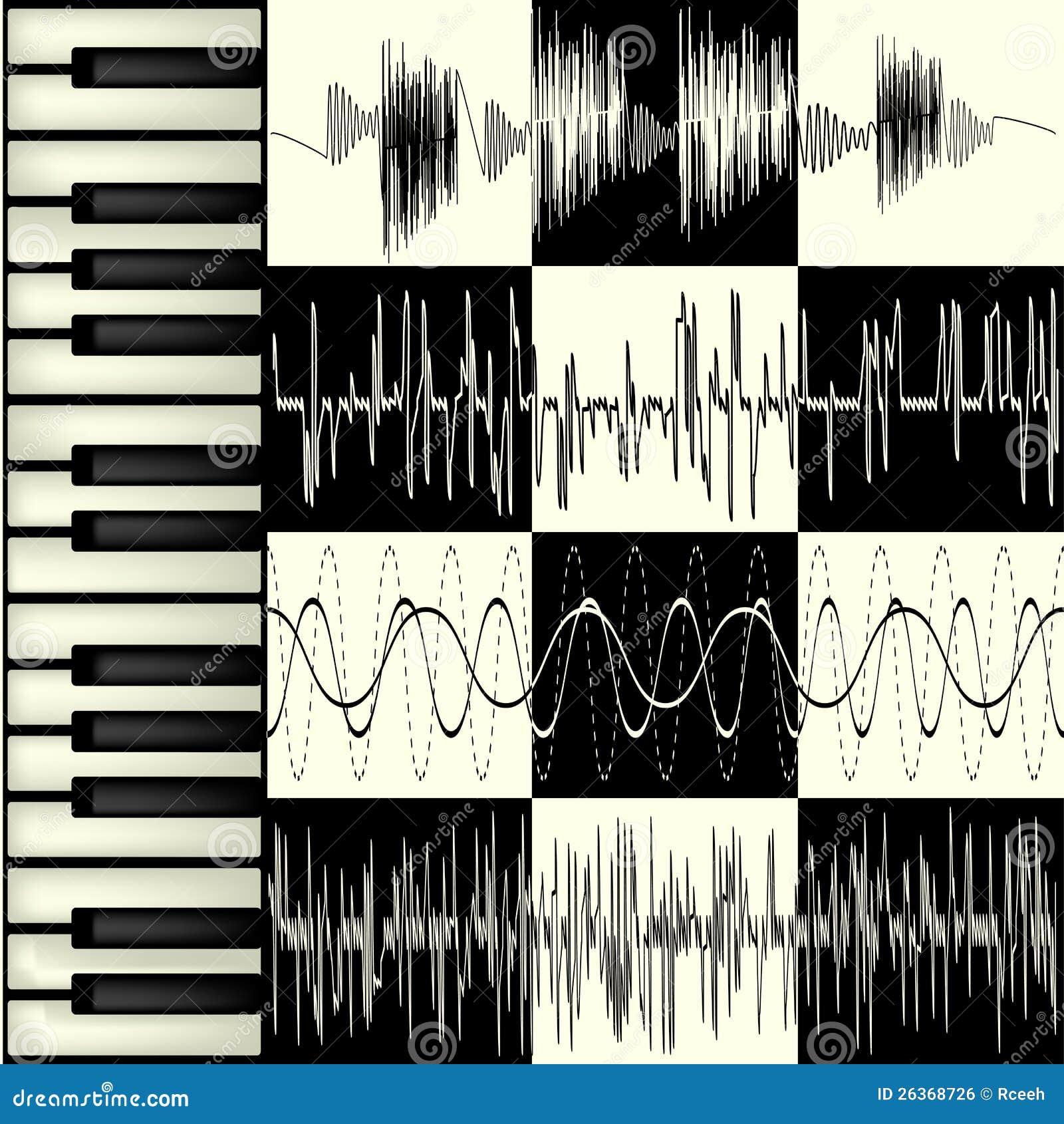 Abstrakter Musikhintergrund