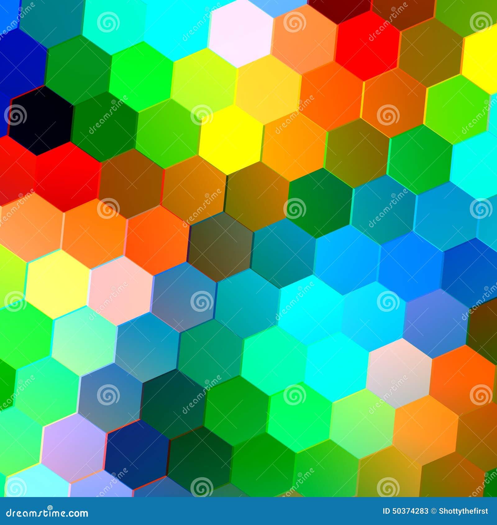 Abstrakter Nahtloser Hintergrund Mit Bunten Hexagonen Mosaik Fliesen