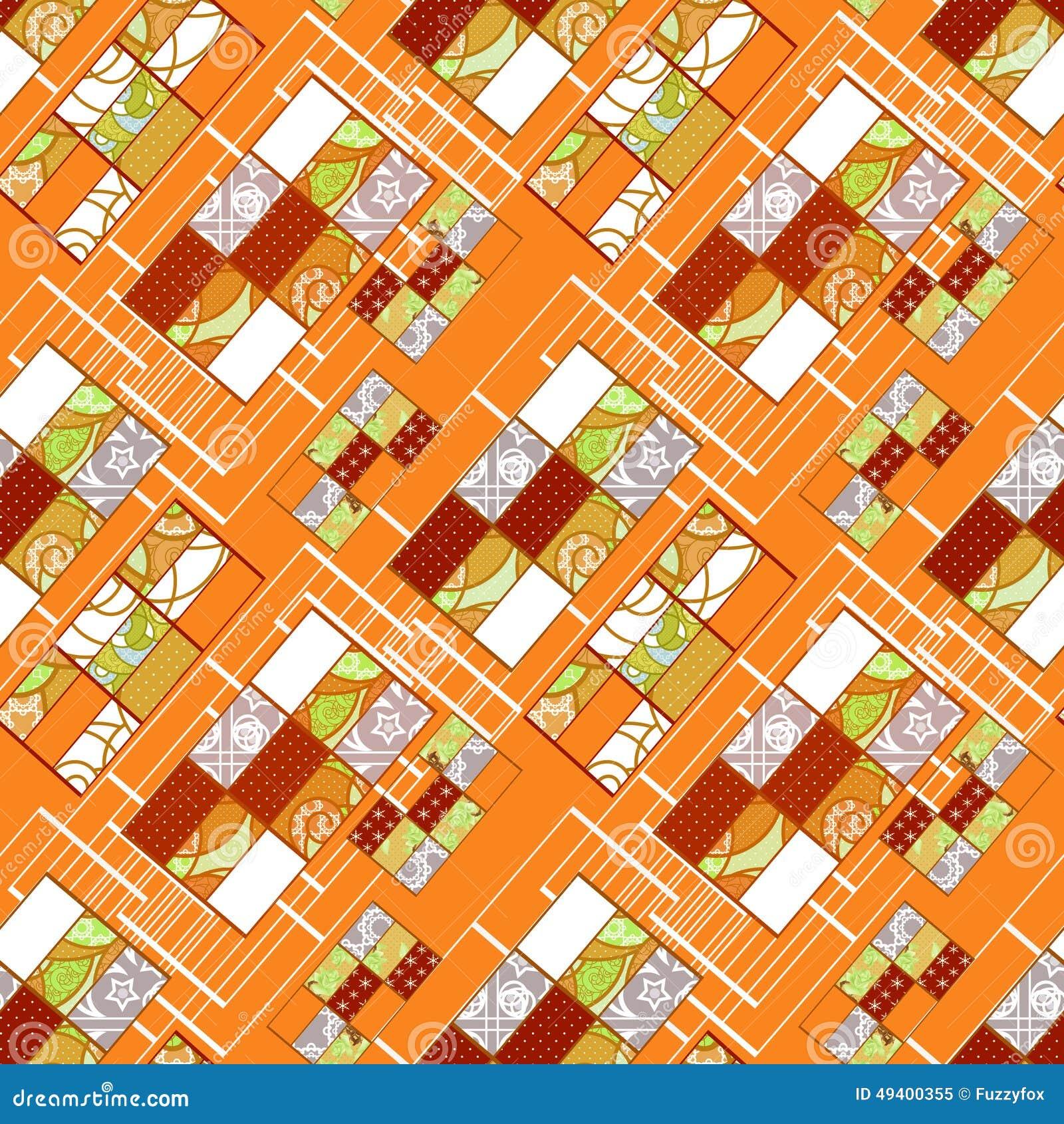 Download Abstrakter Nahtloser Patchworkmuster-Beschaffenheitshintergrund Stock Abbildung - Illustration von feier, rotation: 49400355