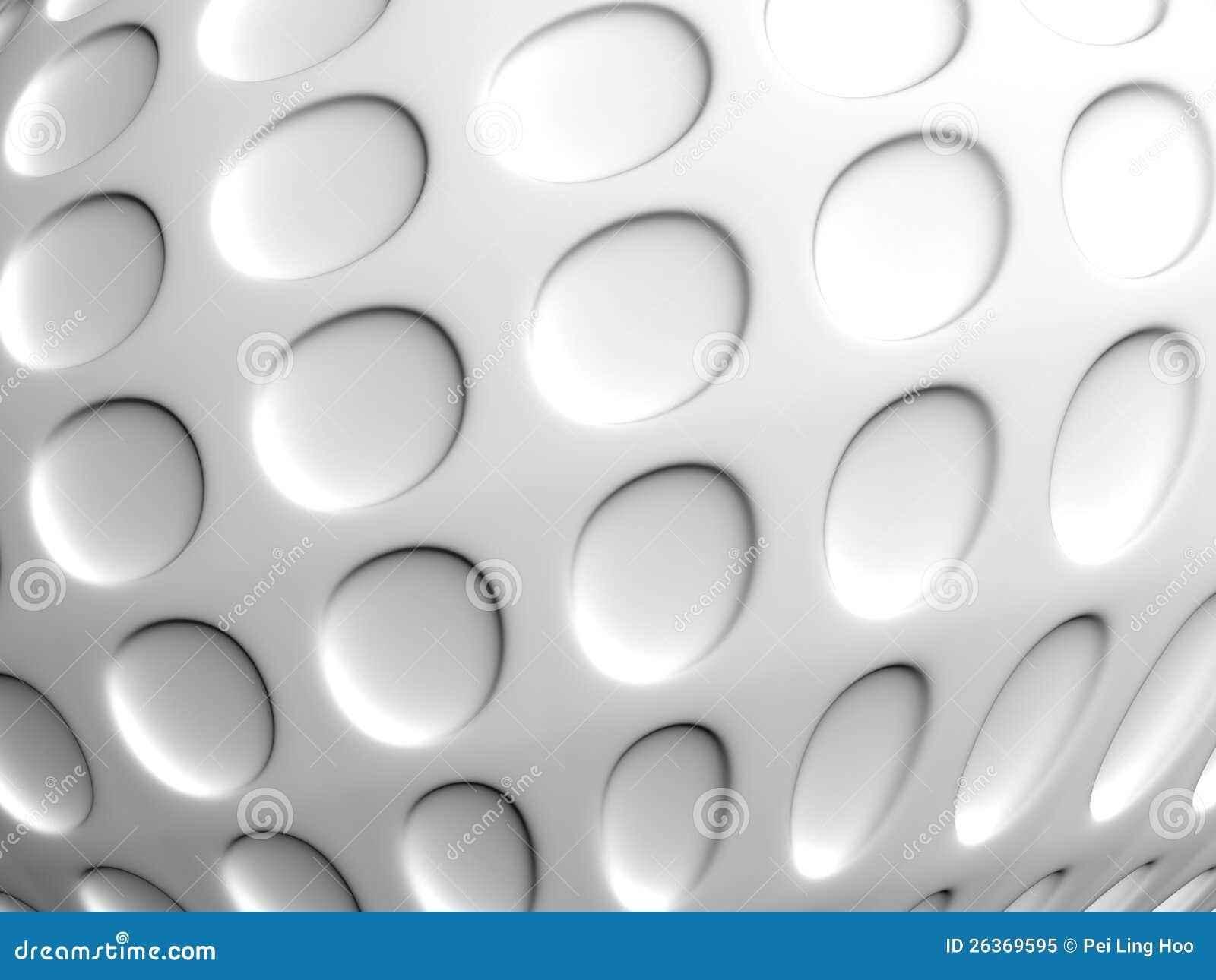 Abstrakter O-Formweißhintergrund