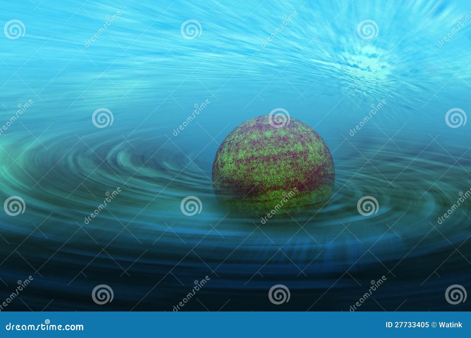 Abstrakter Planetenhintergrund