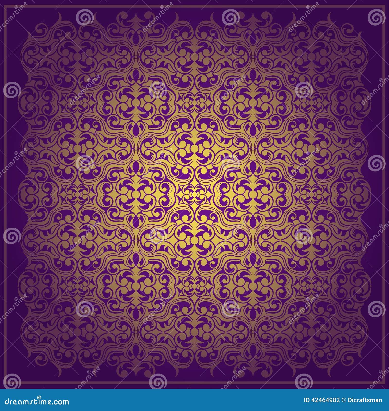 Abstrakter purpurroter Vektorbarockhintergrund