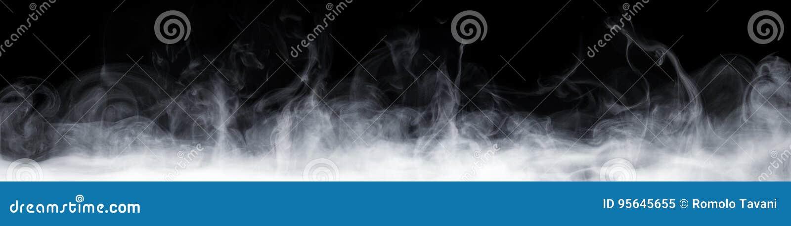 Abstrakter Rauch in der Dunkelheit