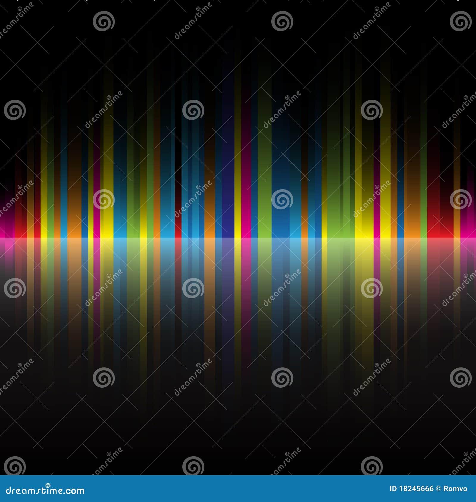 Abstrakter Regenbogen Färbt Schwarzen Hintergrund Vektor Abbildung ...